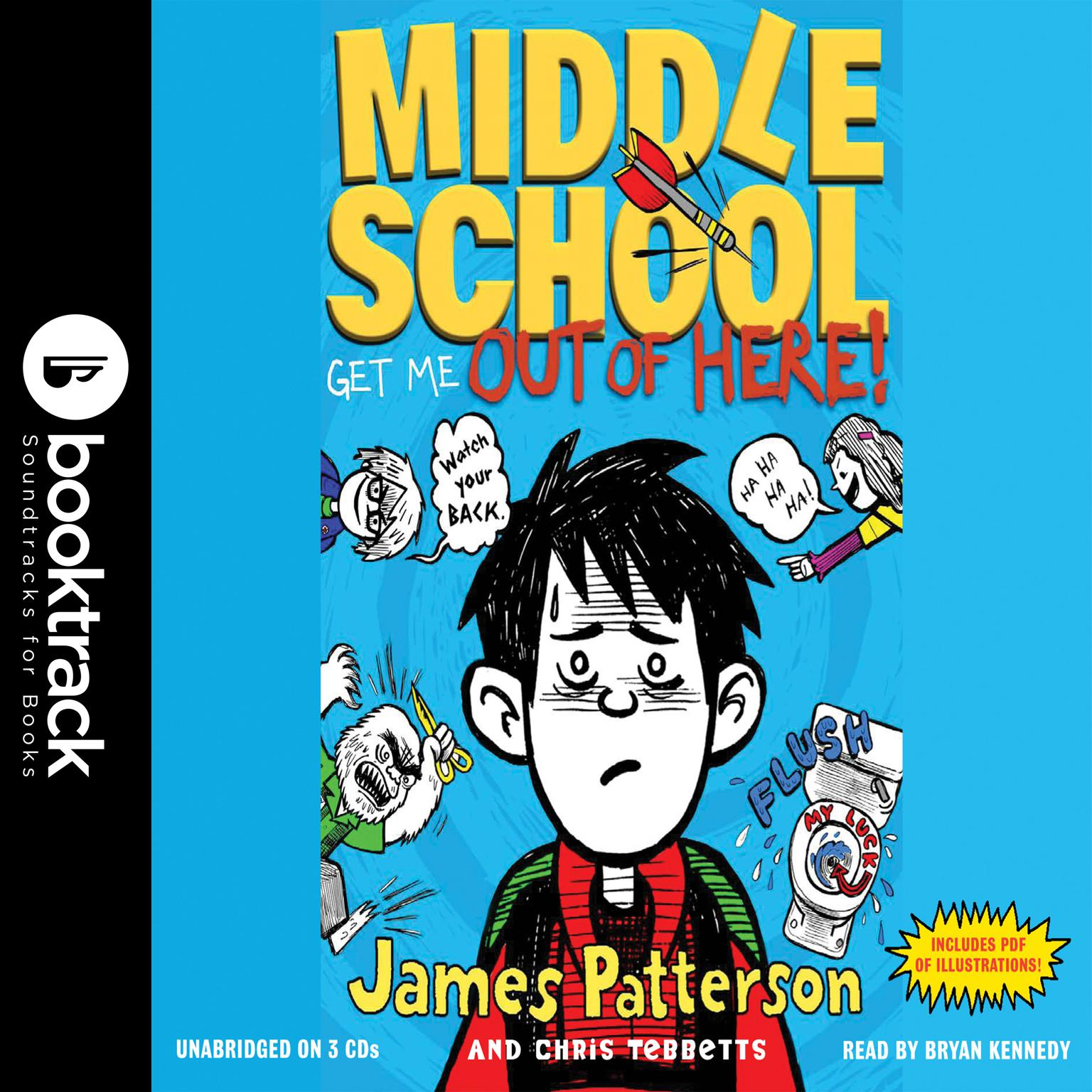 Printable Middle School: Get Me out of Here! Audiobook Cover Art