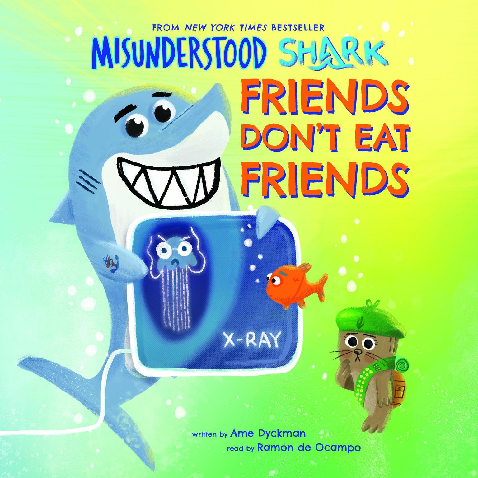 Printable Misunderstood Shark: Friends Don't Eat Friends Audiobook Cover Art