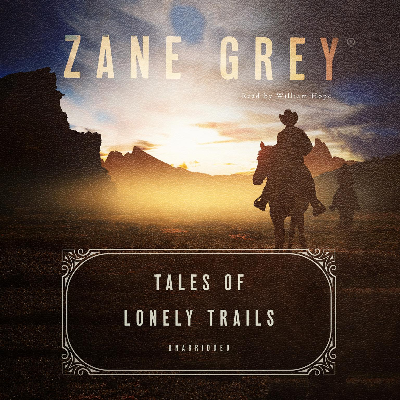 Printable Tales of Lonely Trails Audiobook Cover Art