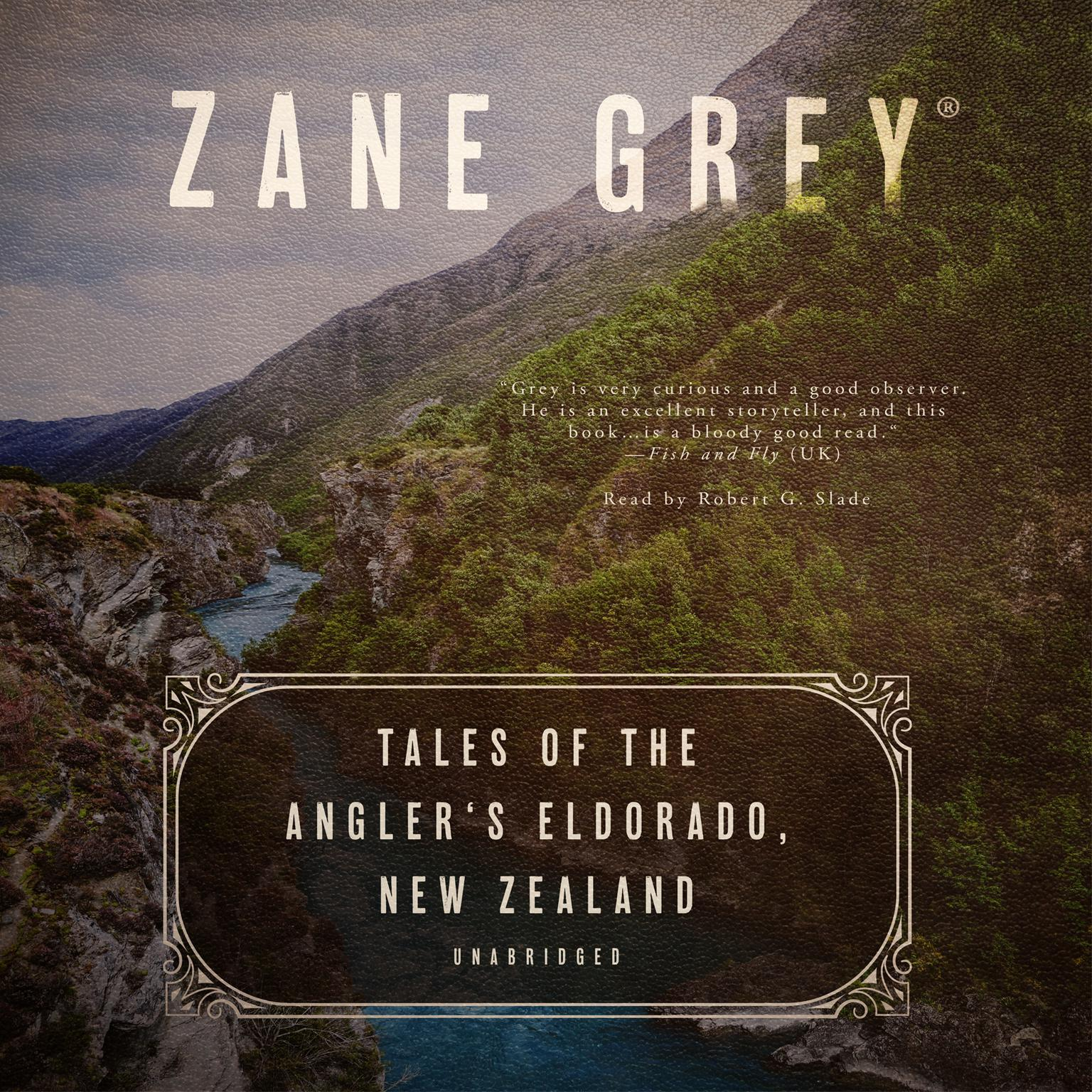 Printable Tales of the Angler's Eldorado, New Zealand Audiobook Cover Art