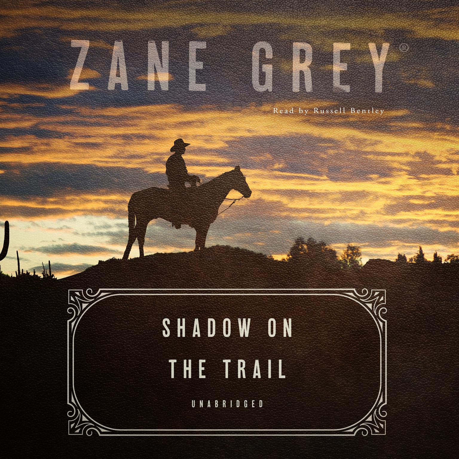 Printable Shadow on the Trail: A Western Story Audiobook Cover Art