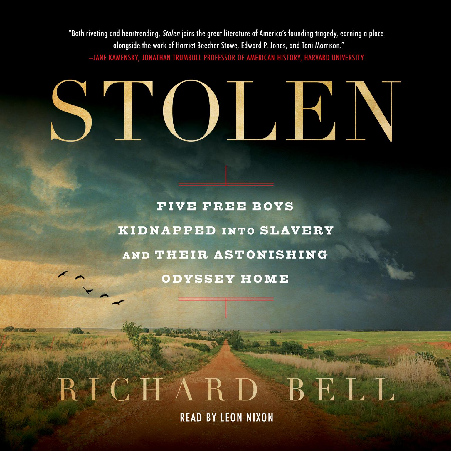 Printable Stolen: Five Free Boys Kidnapped into Slavery and Their Astonishing Odyssey Home Audiobook Cover Art