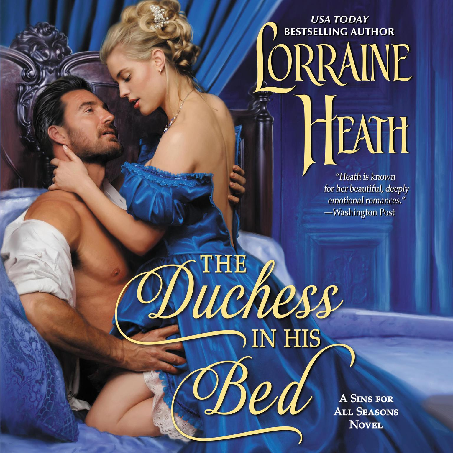 Printable The Duchess in His Bed: A Sins for All Seasons Novel Audiobook Cover Art