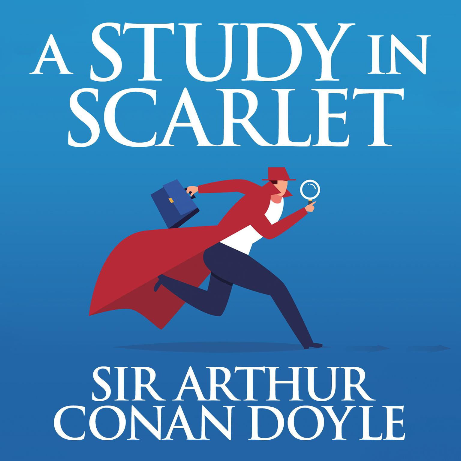 Printable A Study in Scarlet Audiobook Cover Art