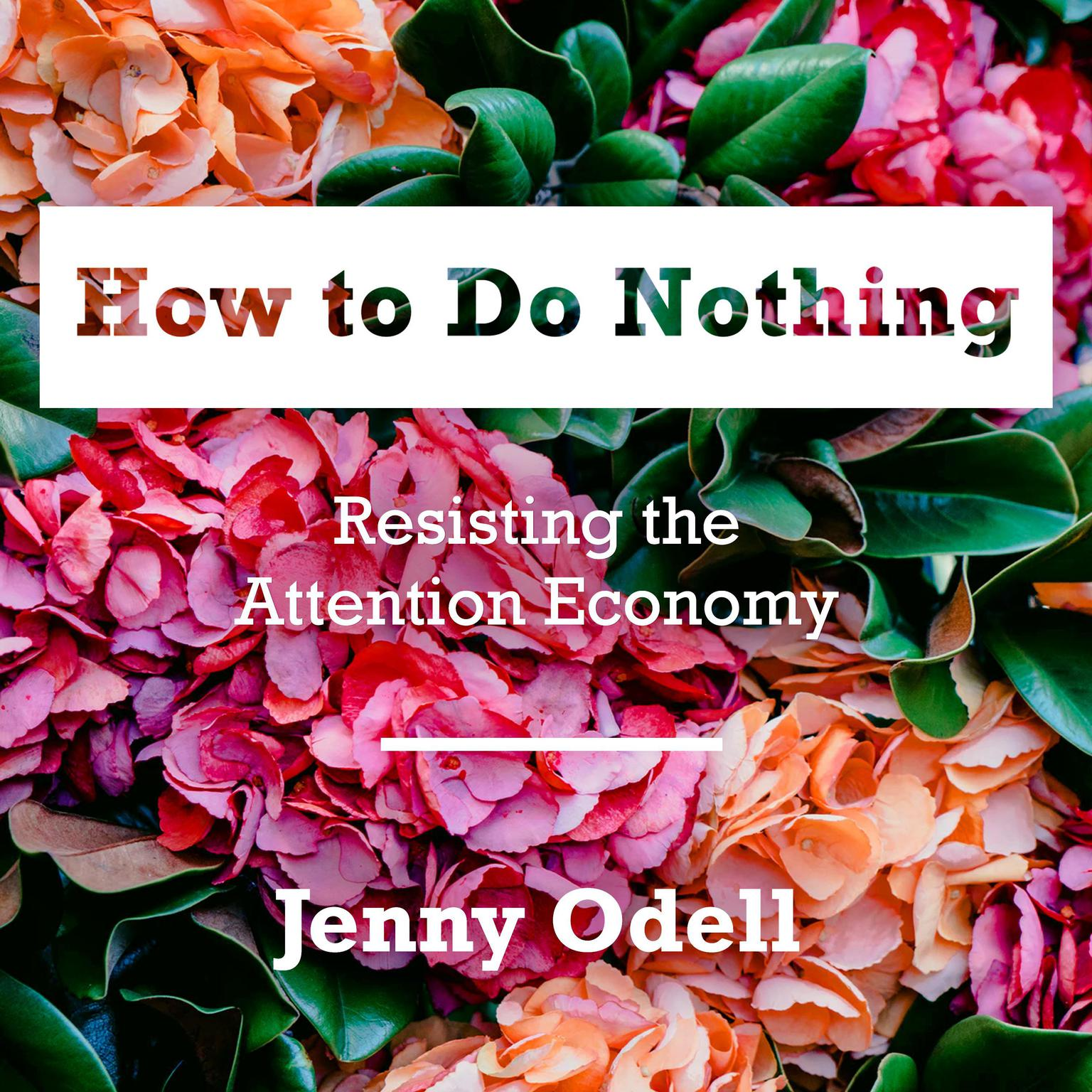 Printable How to Do Nothing: Resisting the Attention Economy Audiobook Cover Art