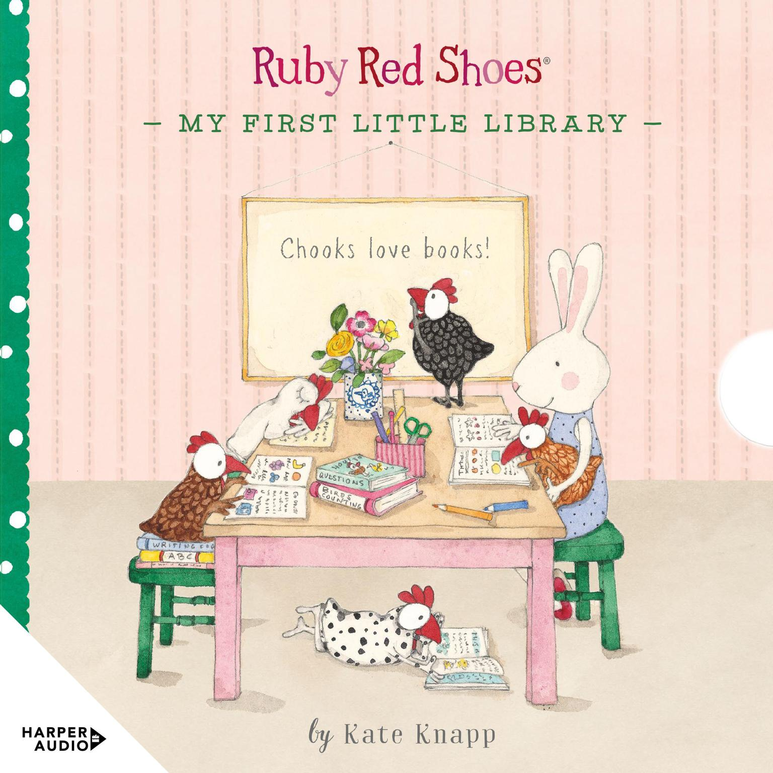 Printable Ruby Red Shoes: My First Little Library Audiobook Cover Art