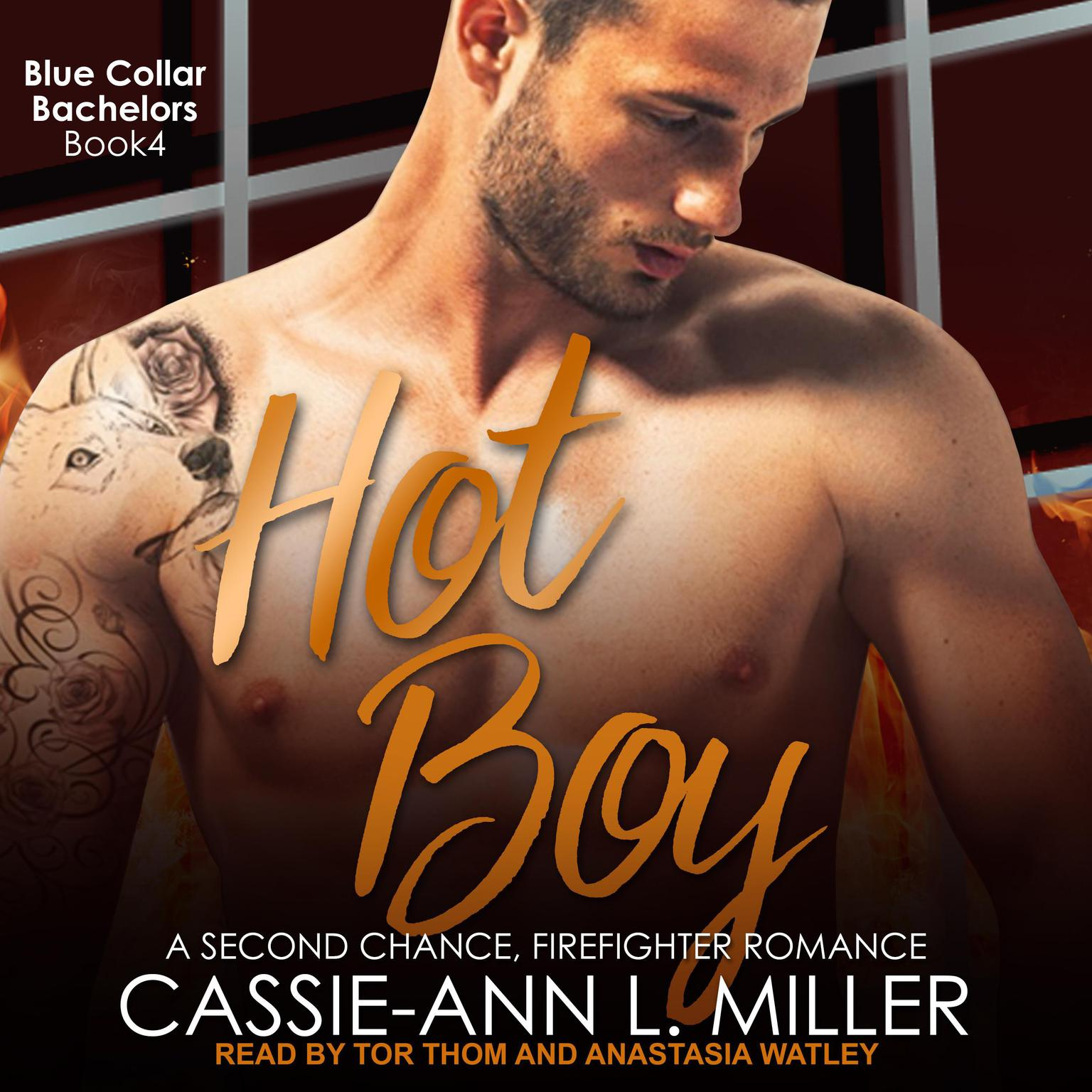 Printable Hot Boy: A Second Chance, Firefighter Romance Audiobook Cover Art