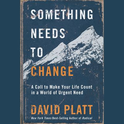 Something Needs to Change: A Call to Make Your Life Count in a World of Urgent Need Audiobook, by David Platt