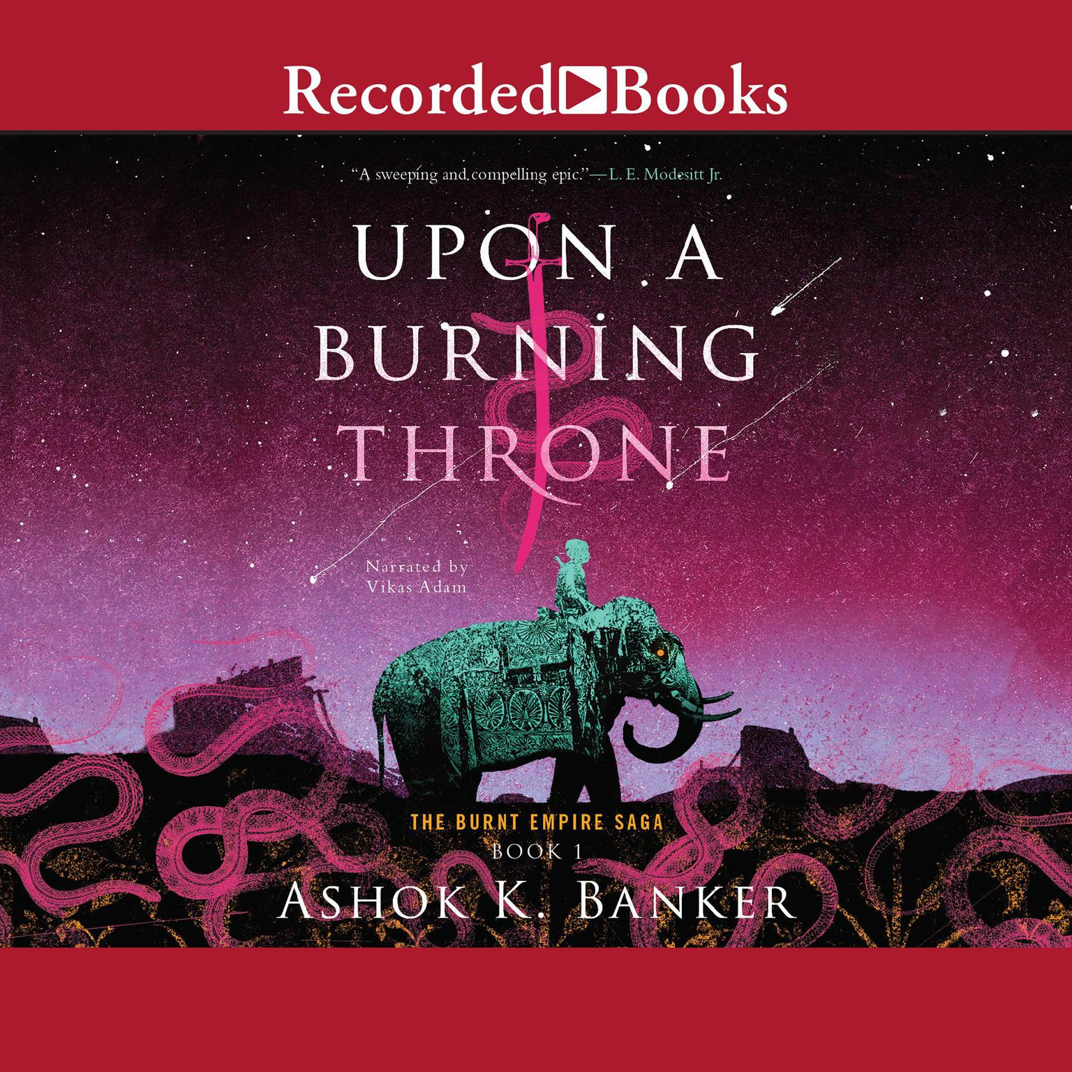 Printable Upon a Burning Throne Audiobook Cover Art