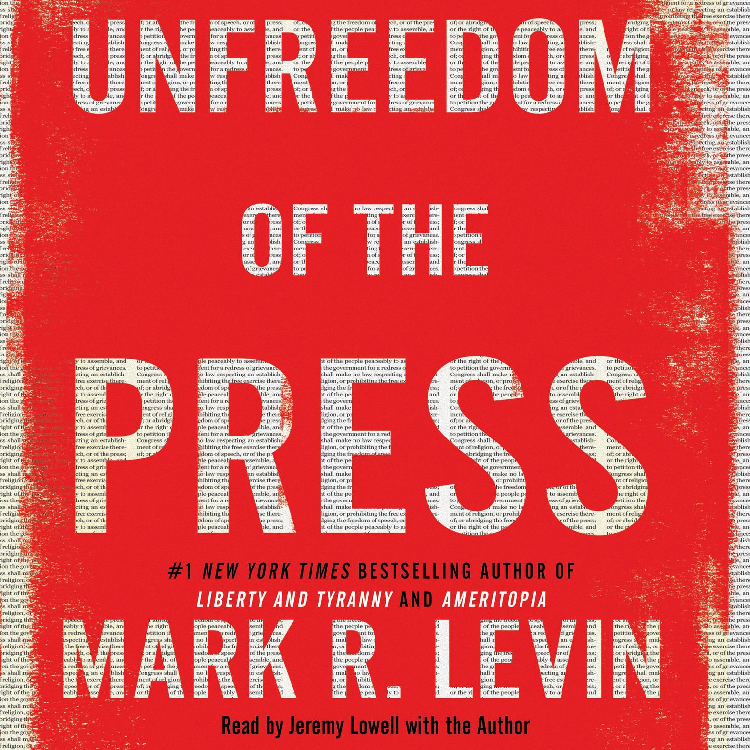 Printable Unfreedom of the Press Audiobook Cover Art