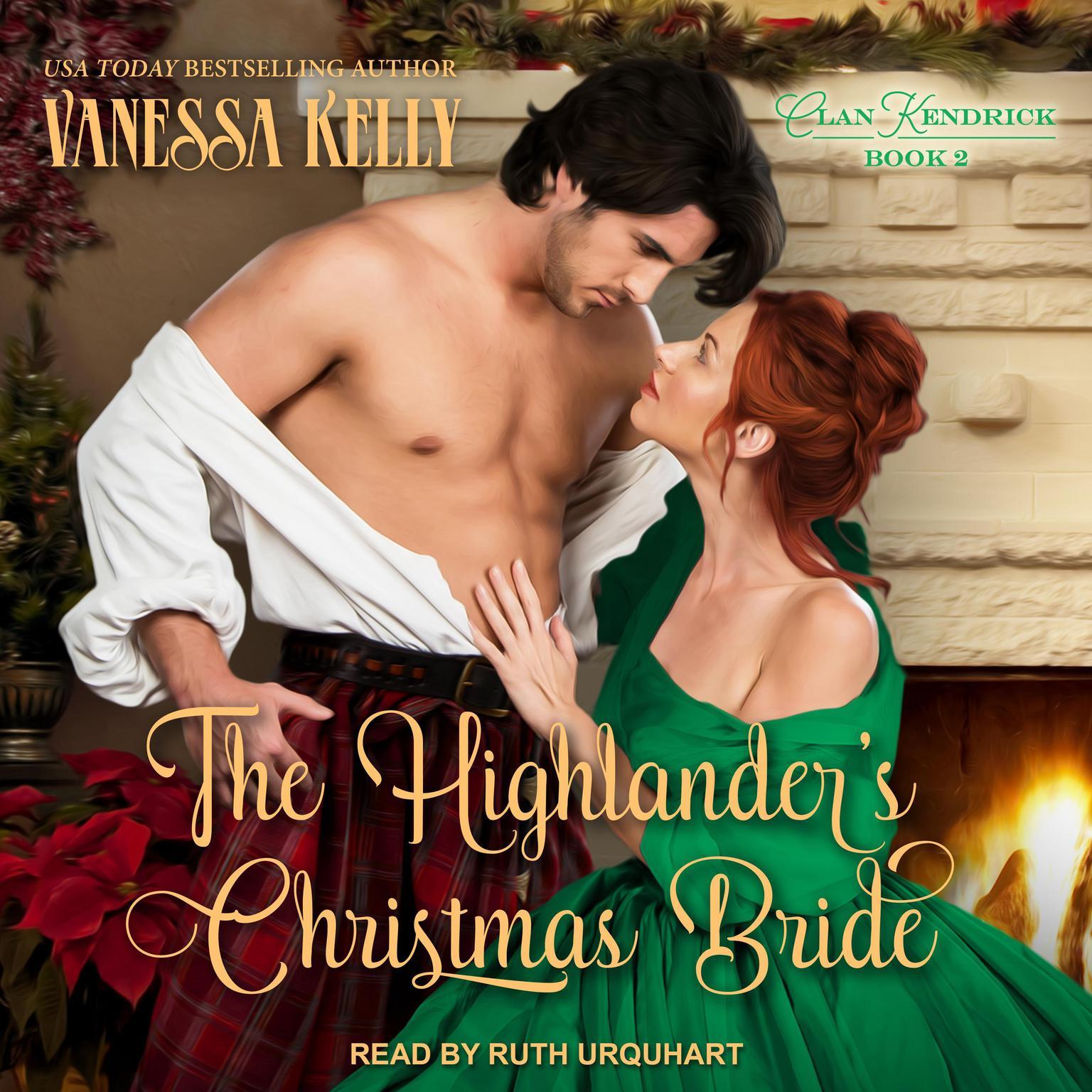 Printable The Highlander's Christmas Bride Audiobook Cover Art