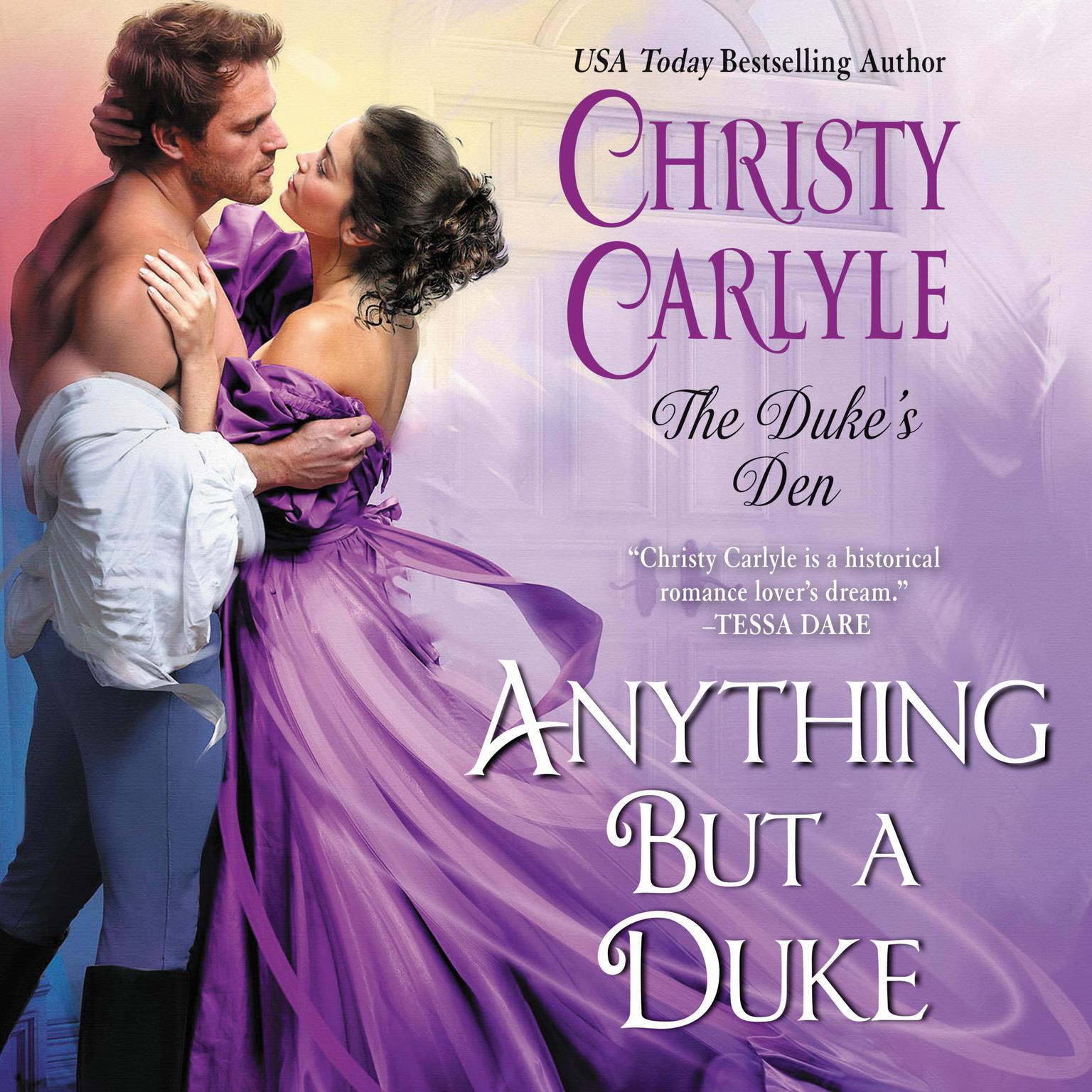 Printable Anything But a Duke: The Duke's Den Audiobook Cover Art