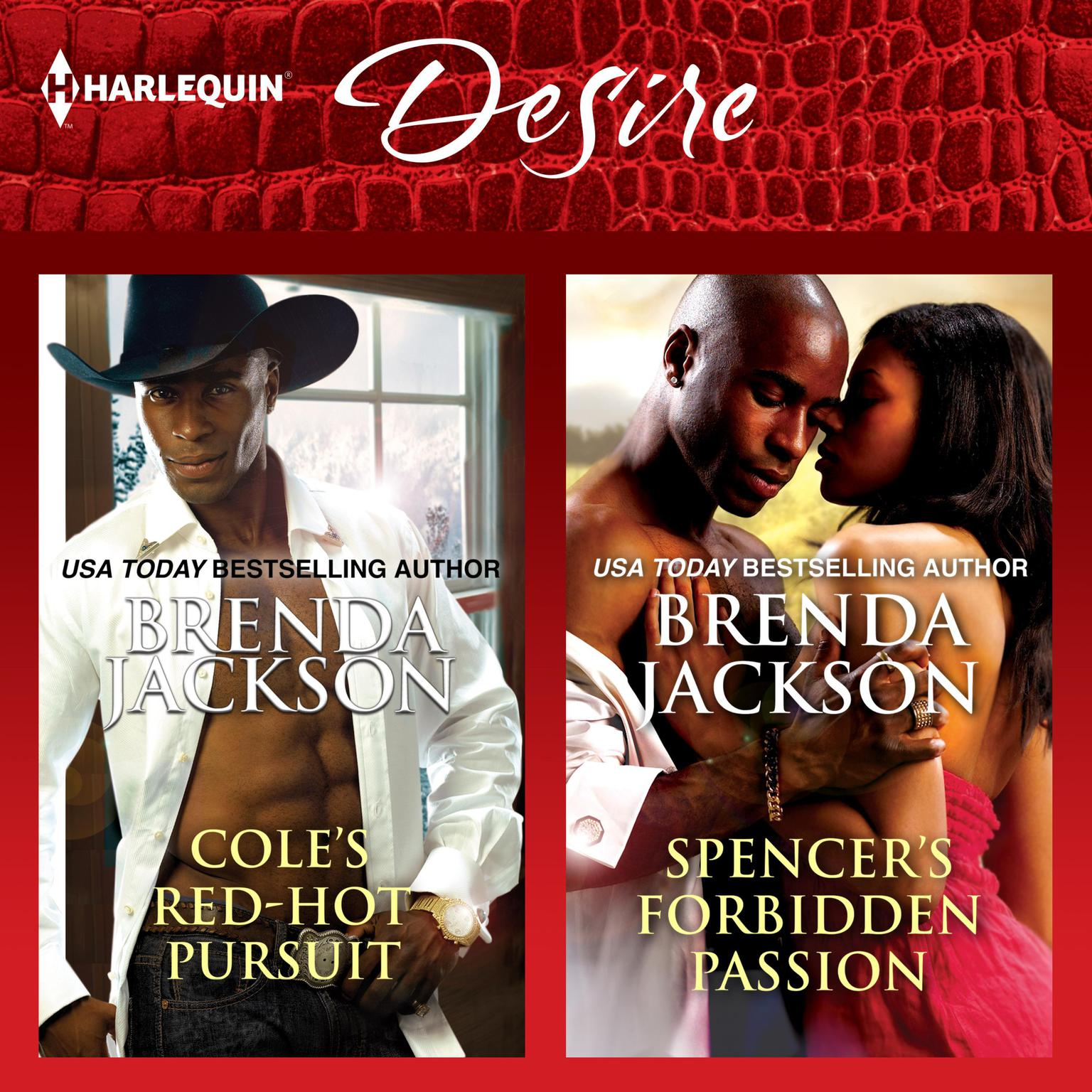 Printable Cole's Red-Hot Pursuit & Spencer's Forbidden Passion Audiobook Cover Art