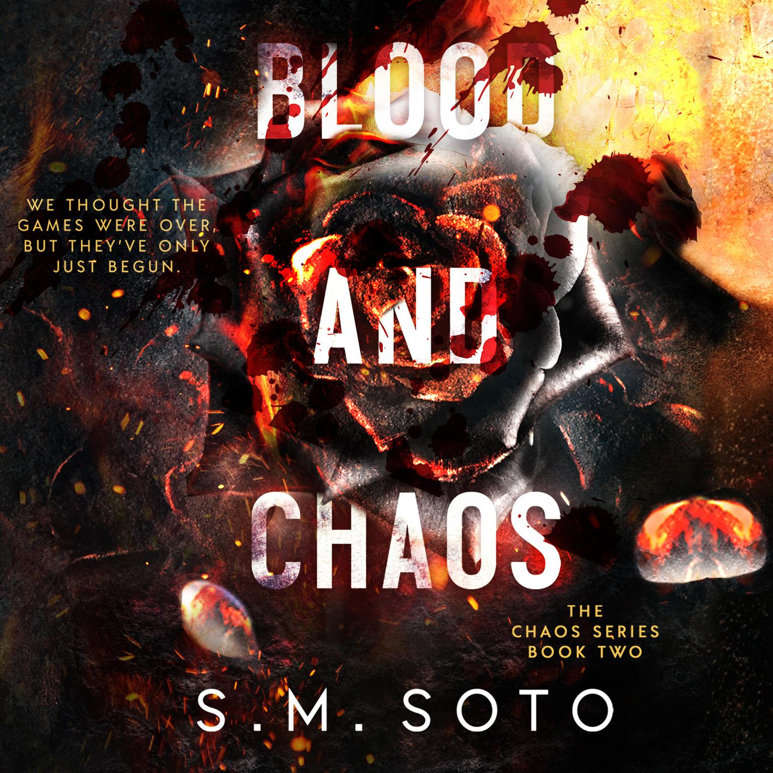Printable Blood and Chaos Audiobook Cover Art