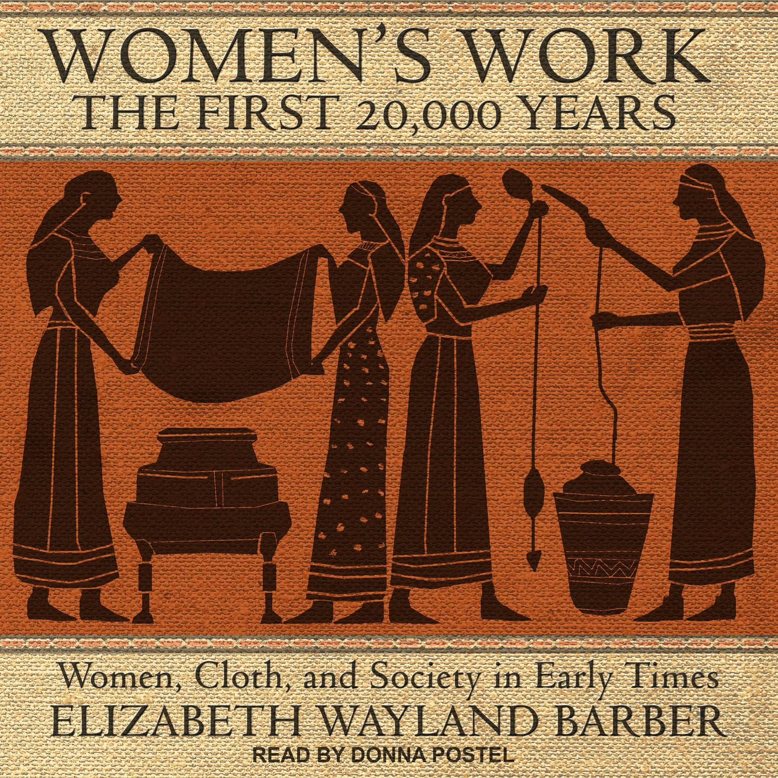 Printable Women's Work: The First 20,000 Years: Women, Cloth, and Society in Early Times Audiobook Cover Art
