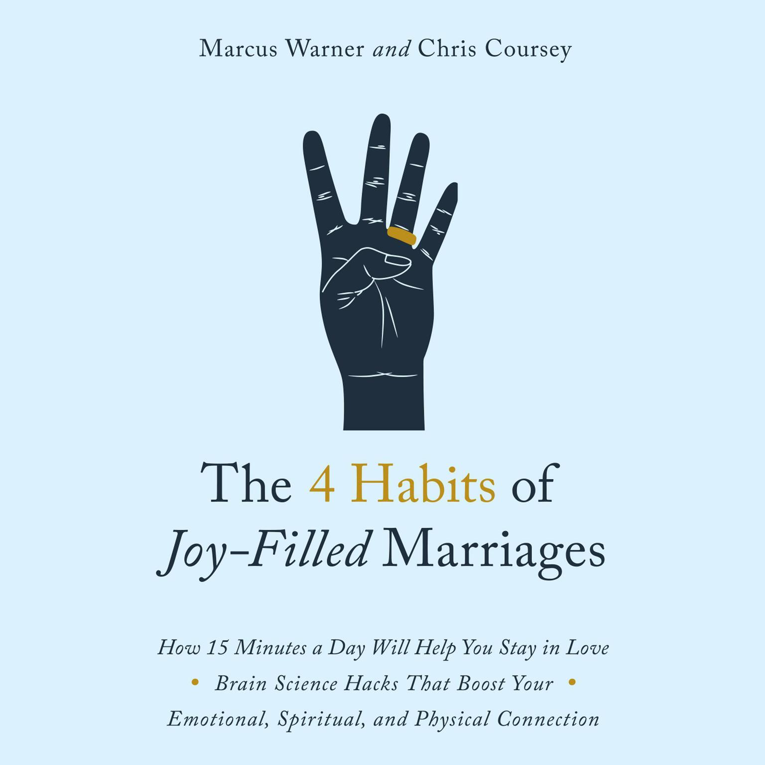 Printable The 4 Habits of Joy Filled Marriages: How 15 Minutes a Day Will Help You Stay In Love Audiobook Cover Art