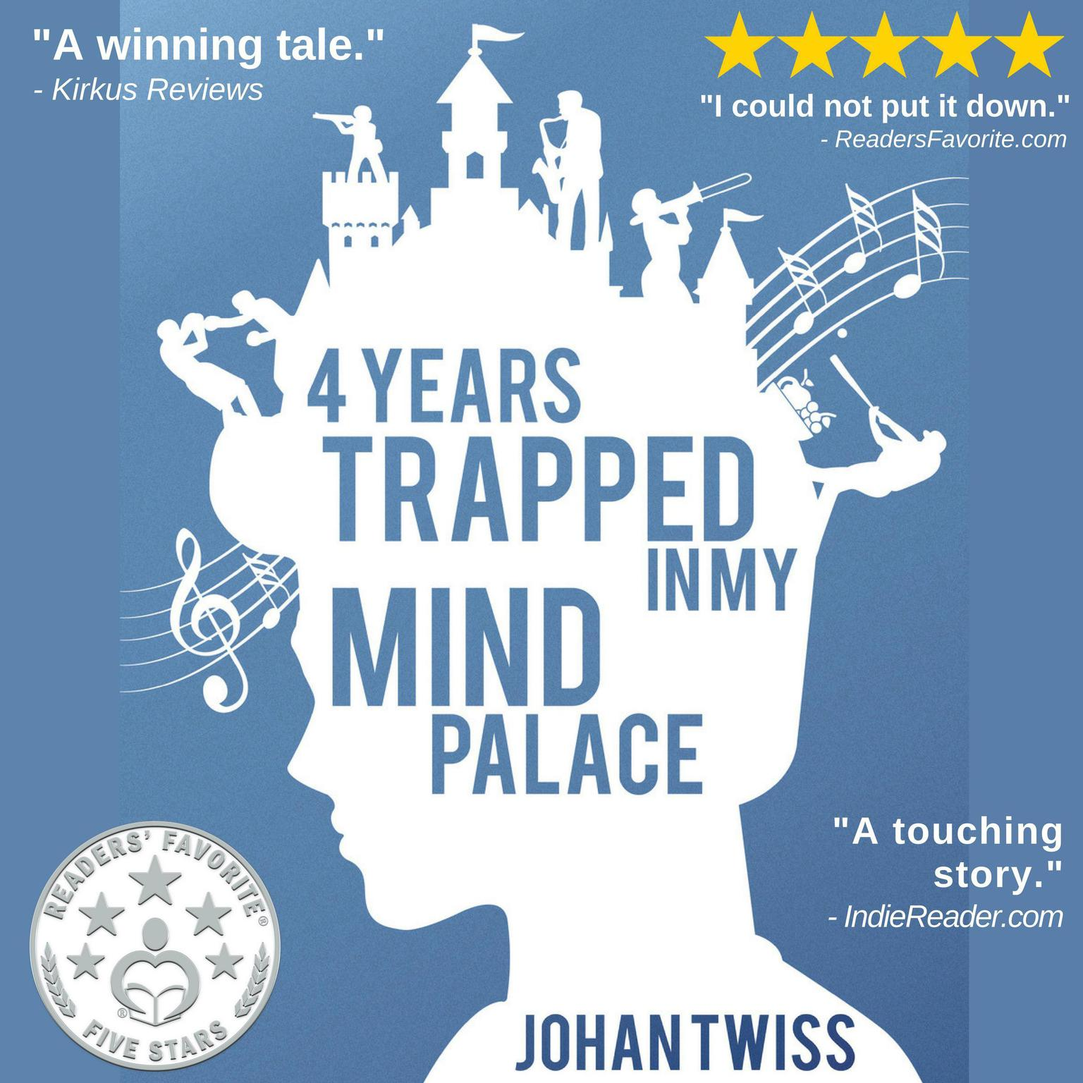 Printable 4 Years Trapped in My Mind Palace Audiobook Cover Art