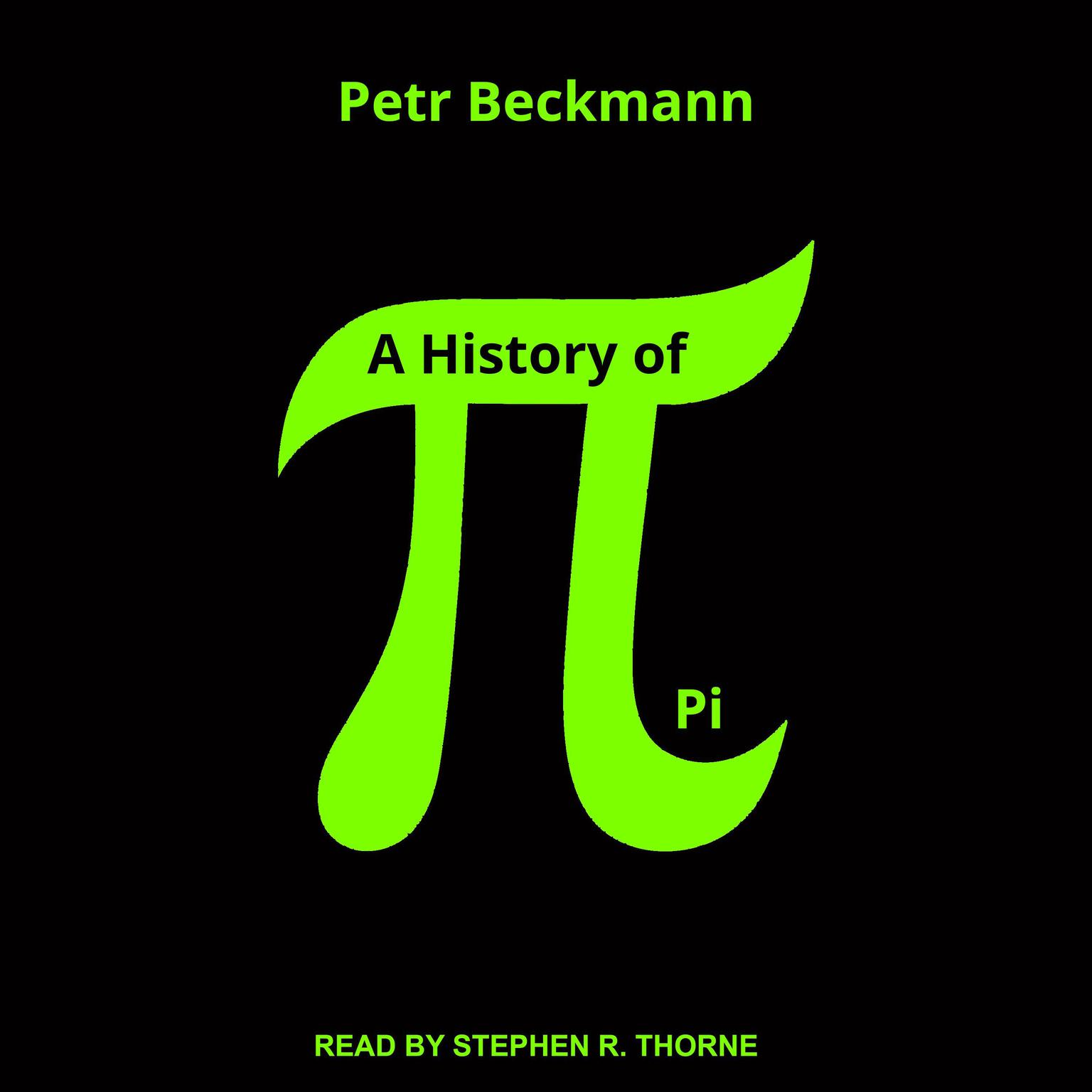 Printable A History of Pi Audiobook Cover Art