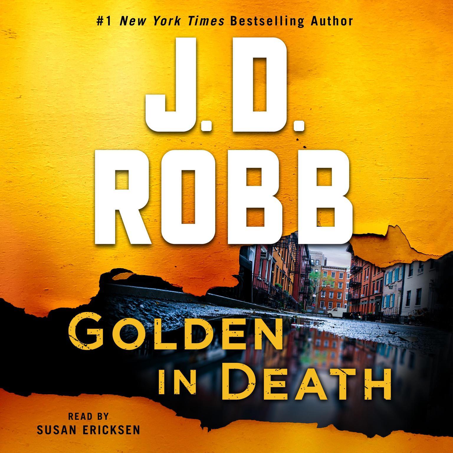 Printable Golden in Death: An Eve Dallas Novel Audiobook Cover Art