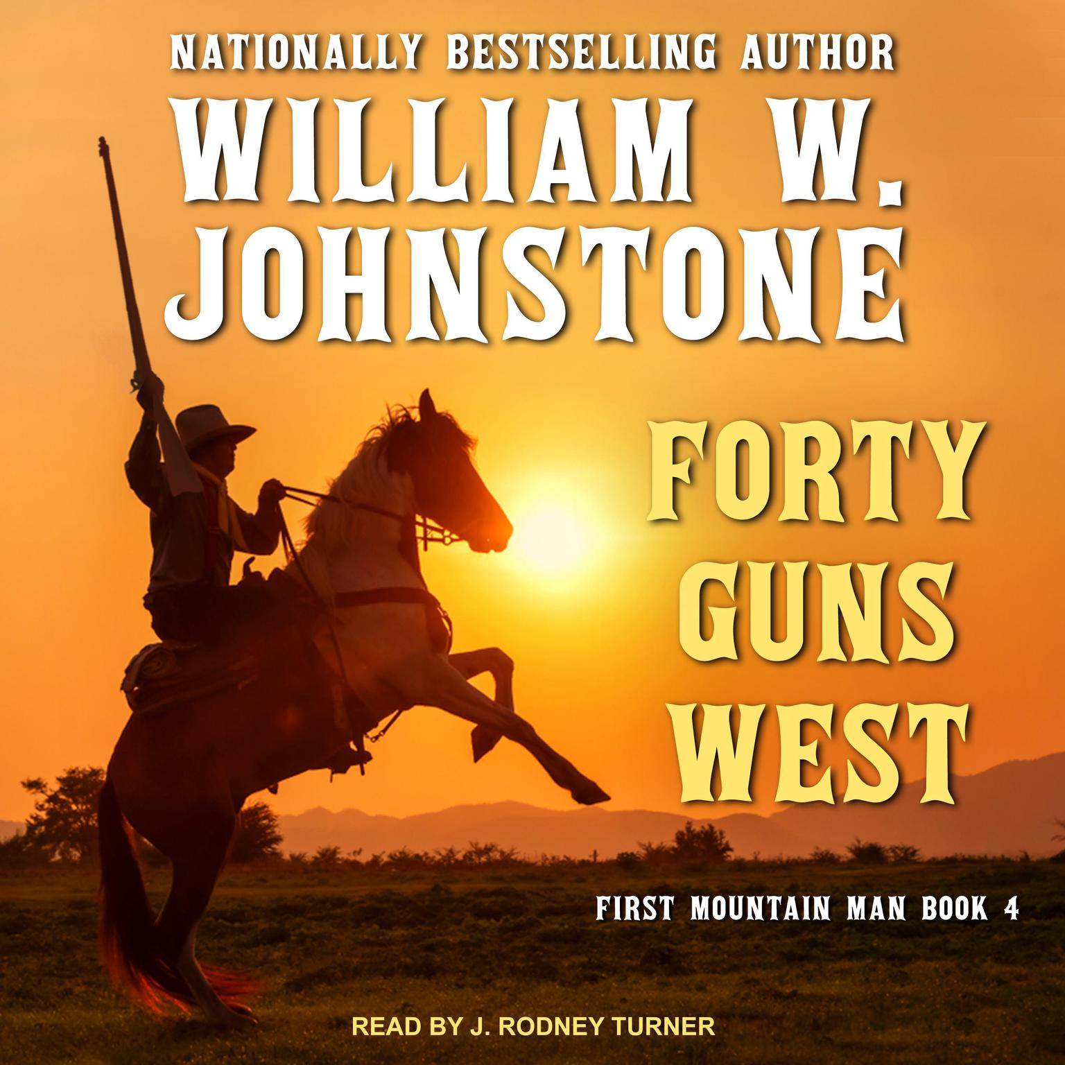 Printable Forty Guns West Audiobook Cover Art