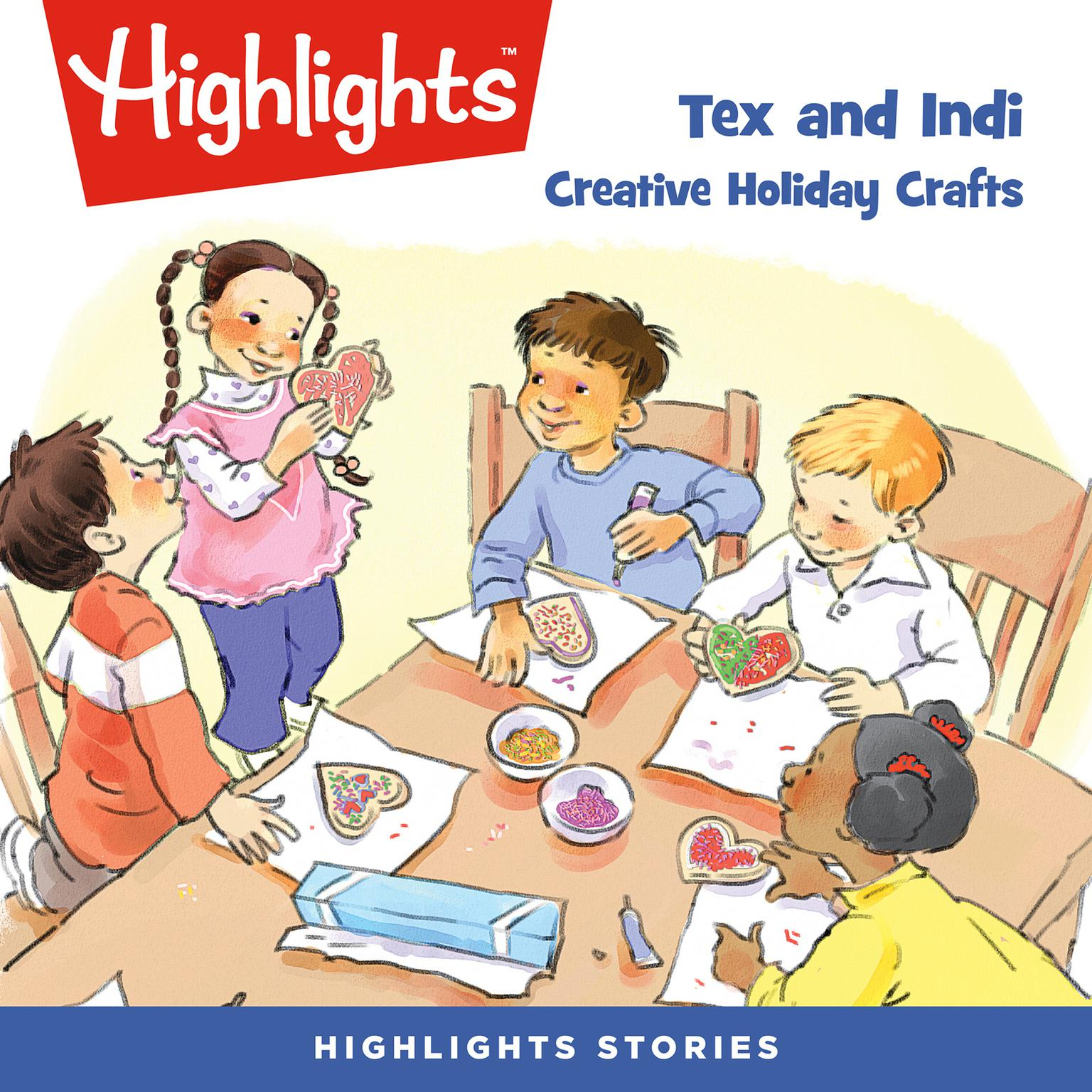 Printable Tex and Indi: Creative Holiday Crafts Audiobook Cover Art
