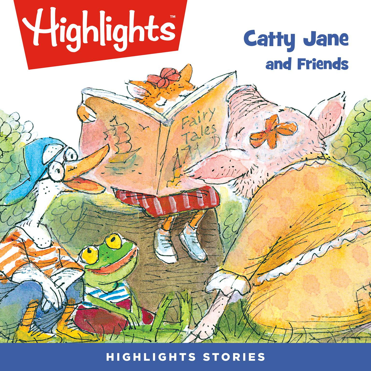 Printable Catty Jane and Friends Audiobook Cover Art