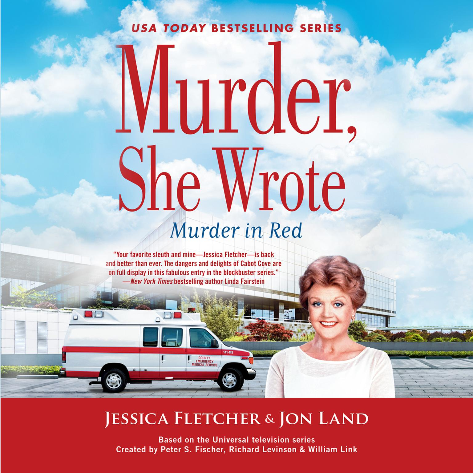 Printable Murder, She Wrote:  Murder in Red Audiobook Cover Art
