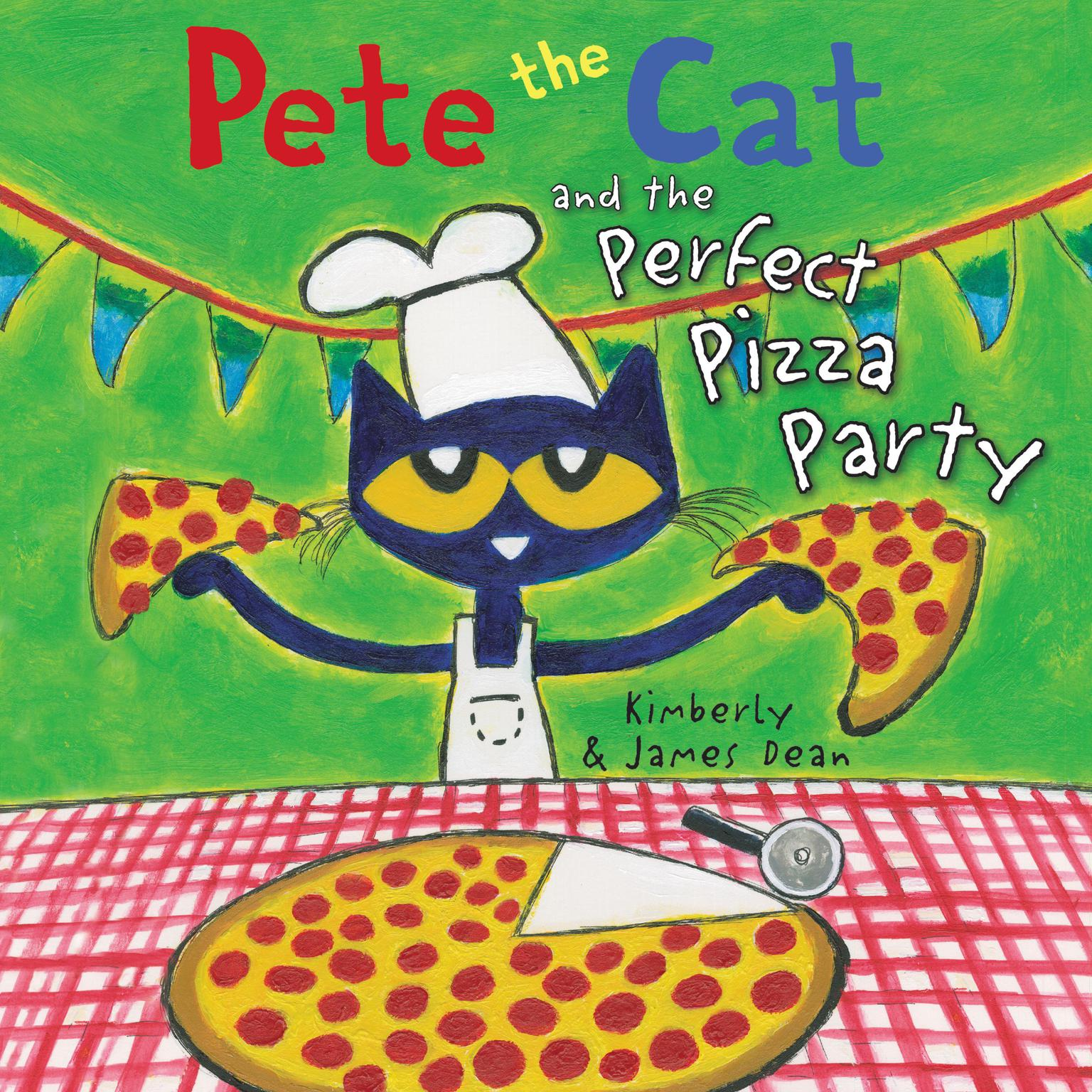 Printable Pete the Cat and the Perfect Pizza Party Audiobook Cover Art