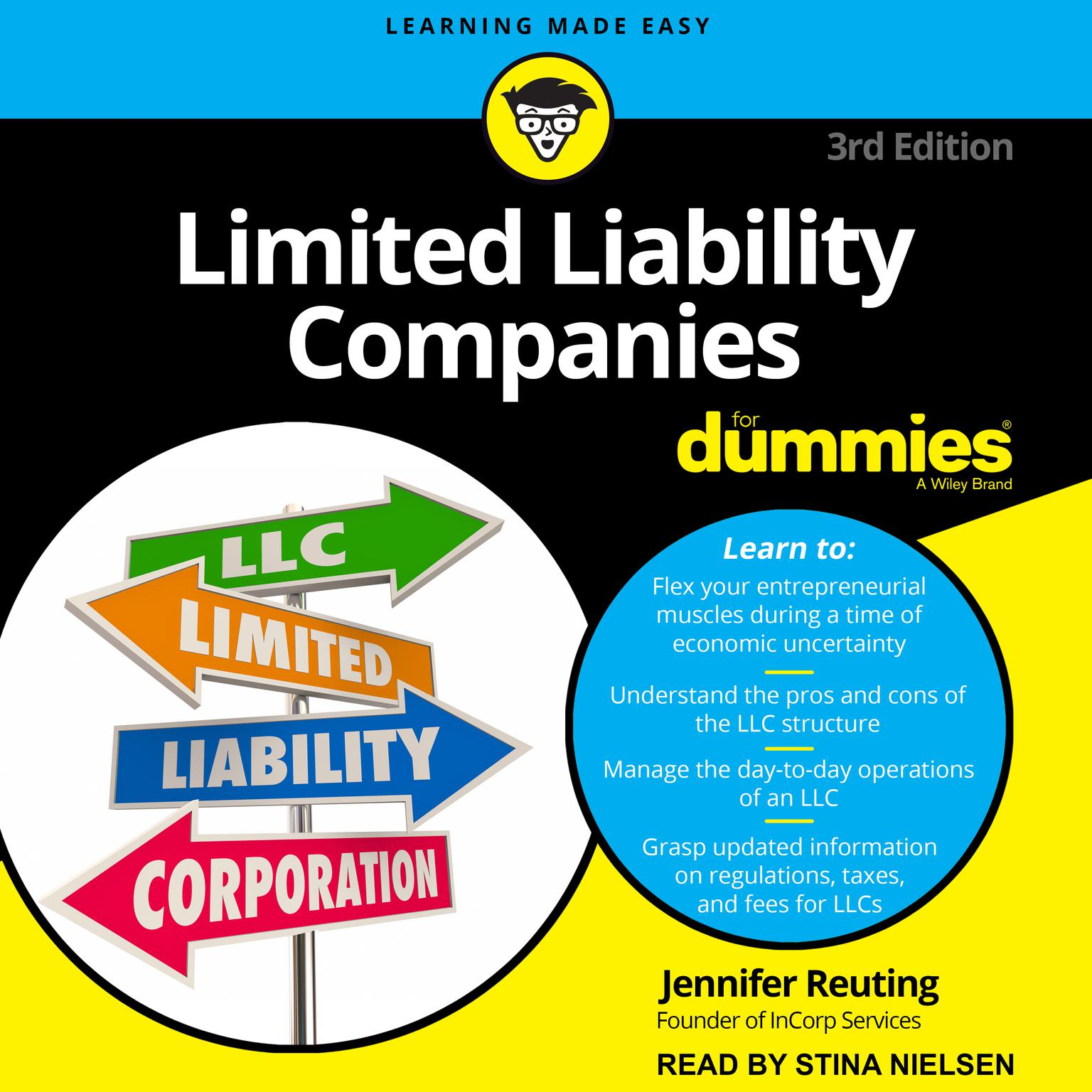 Printable Limited Liability Companies For Dummies: 3rd Edition Audiobook Cover Art