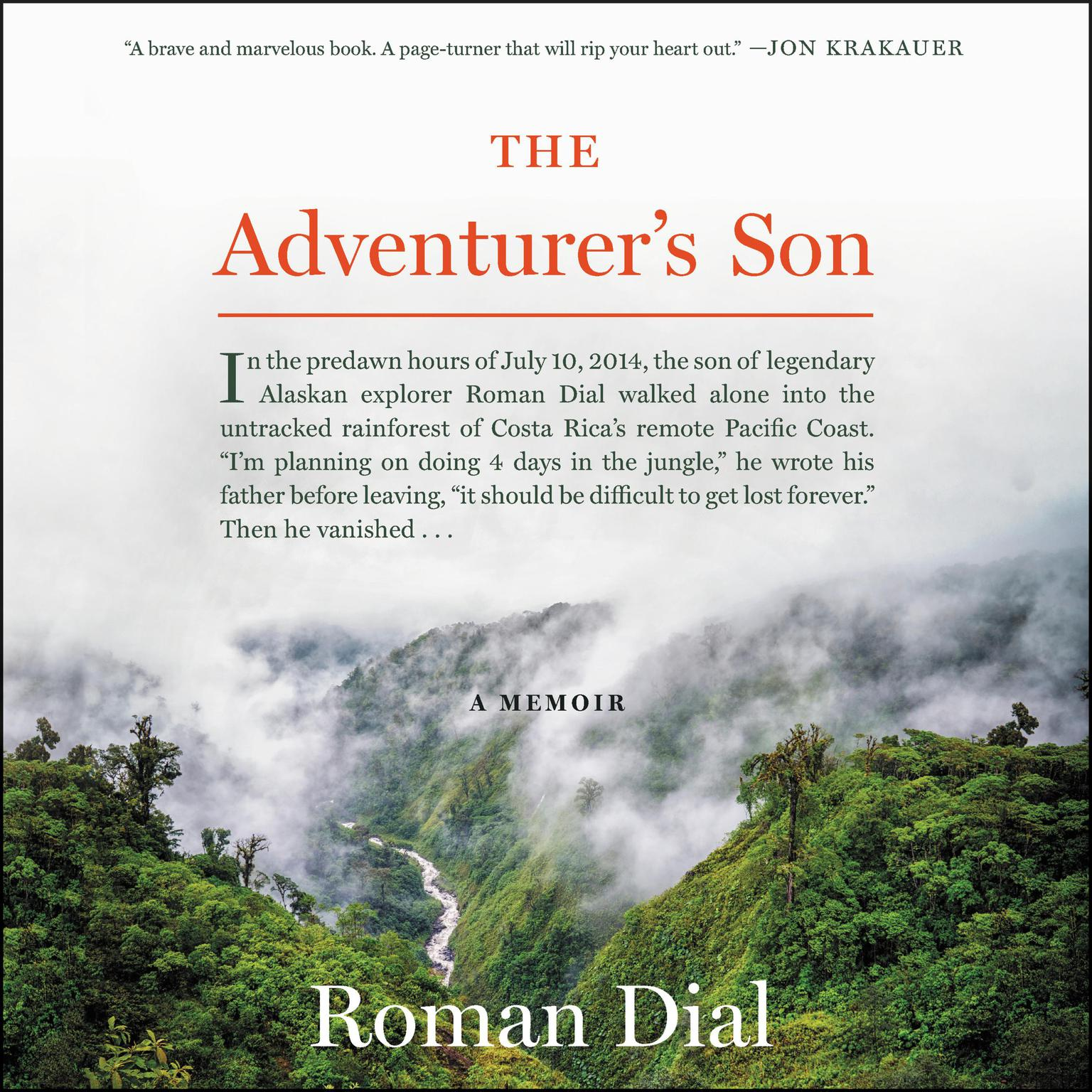 Printable The Adventurer's Son: A Memoir Audiobook Cover Art