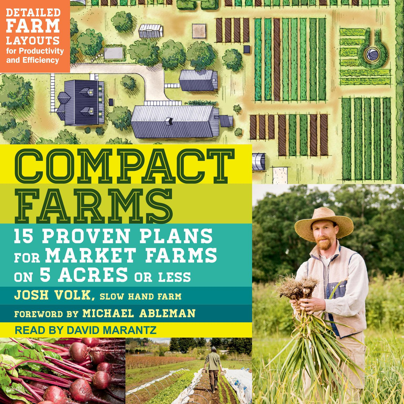 Printable Compact Farms: 15 Proven Plans for Market Farms on 5 Acres or Less Audiobook Cover Art