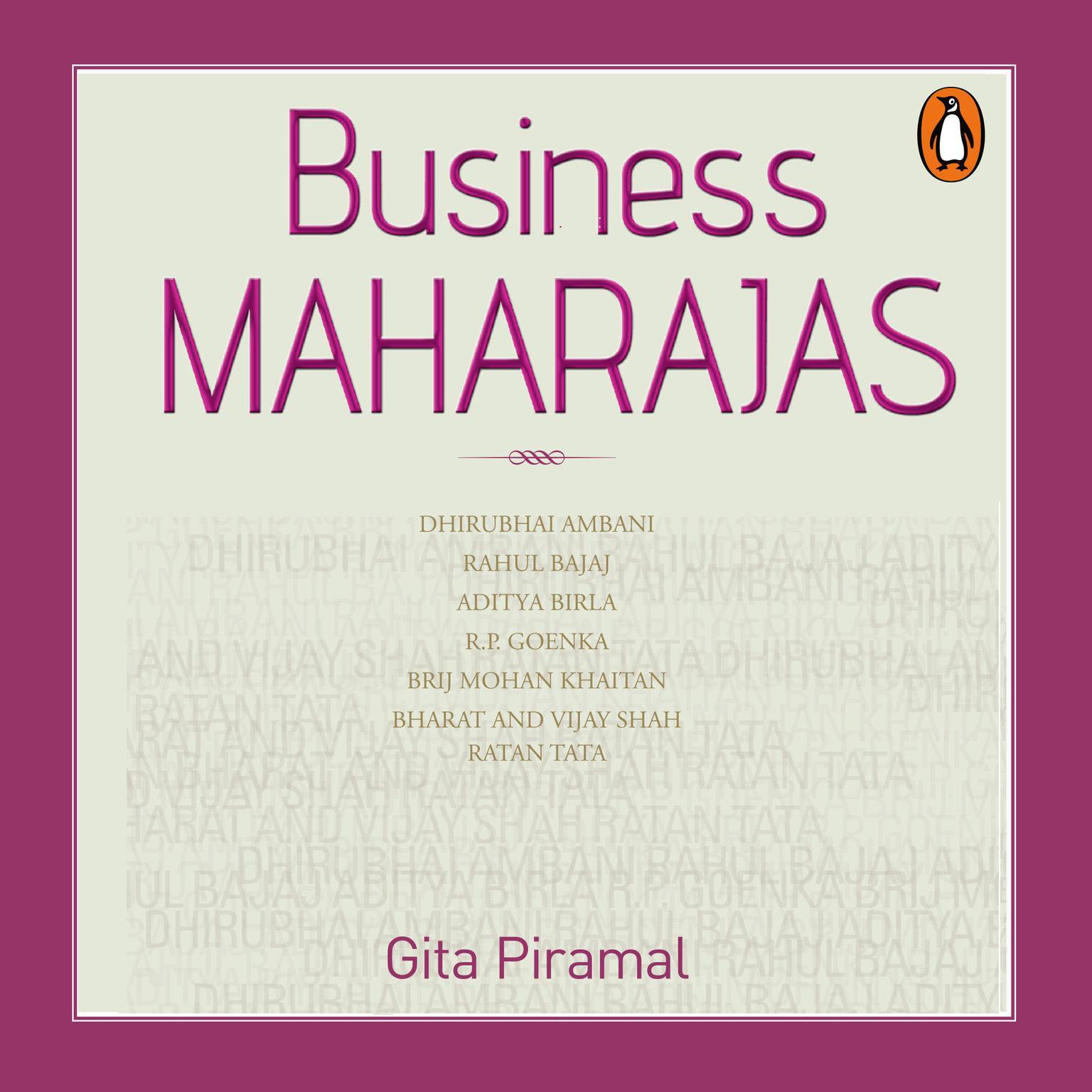 Printable Business Maharajas Audiobook Cover Art