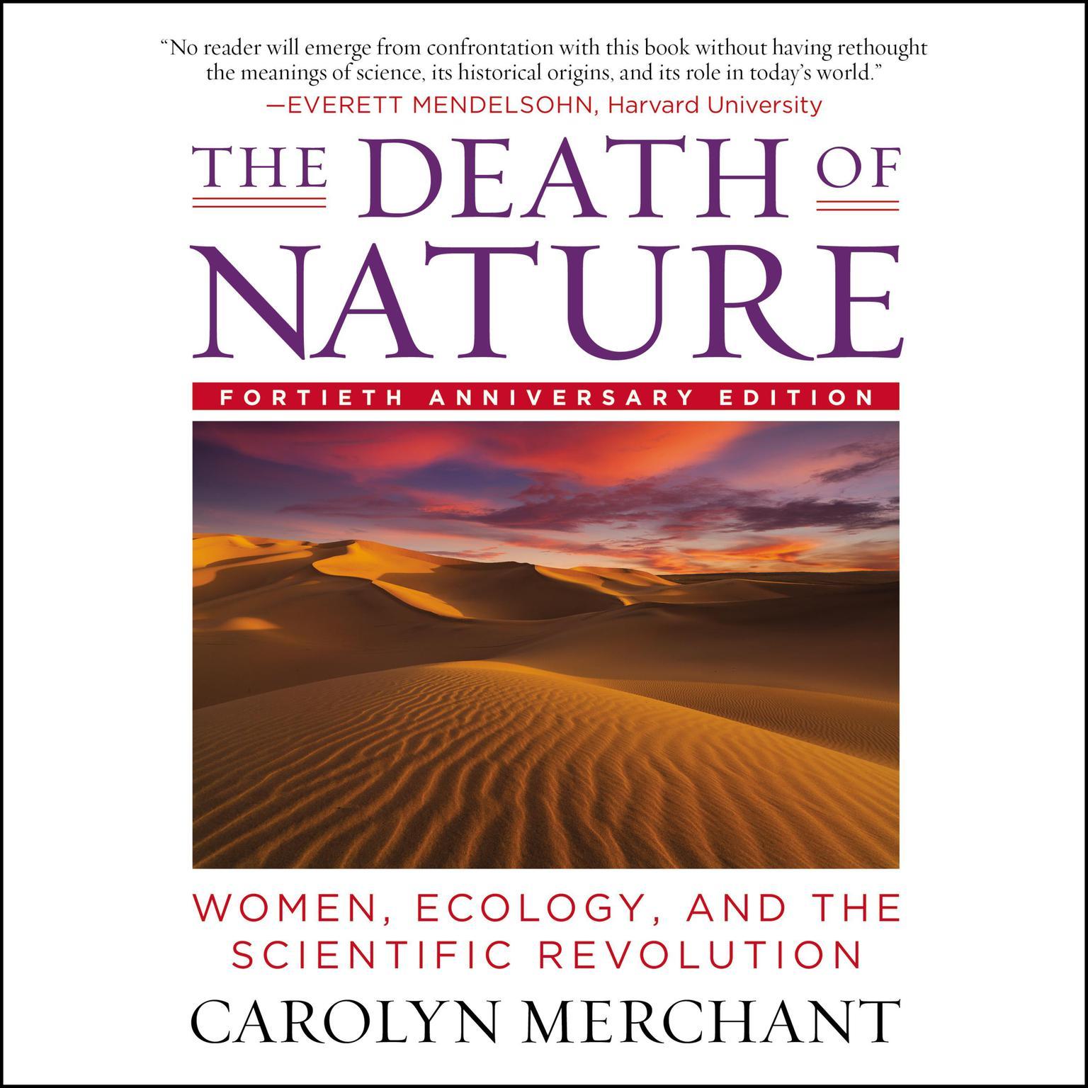 Printable The Death of Nature: Women, Ecology, and the Scientific Revolution Audiobook Cover Art