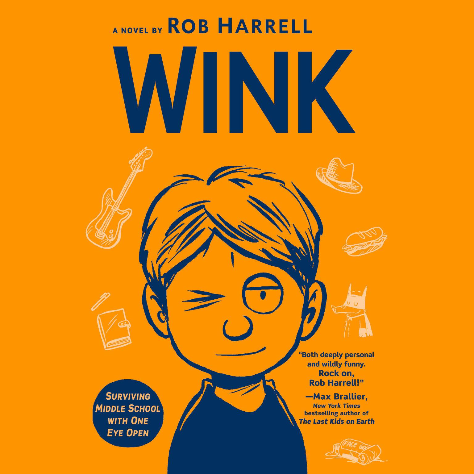 Printable Wink: Surviving Middle School with One Eye Open Audiobook Cover Art
