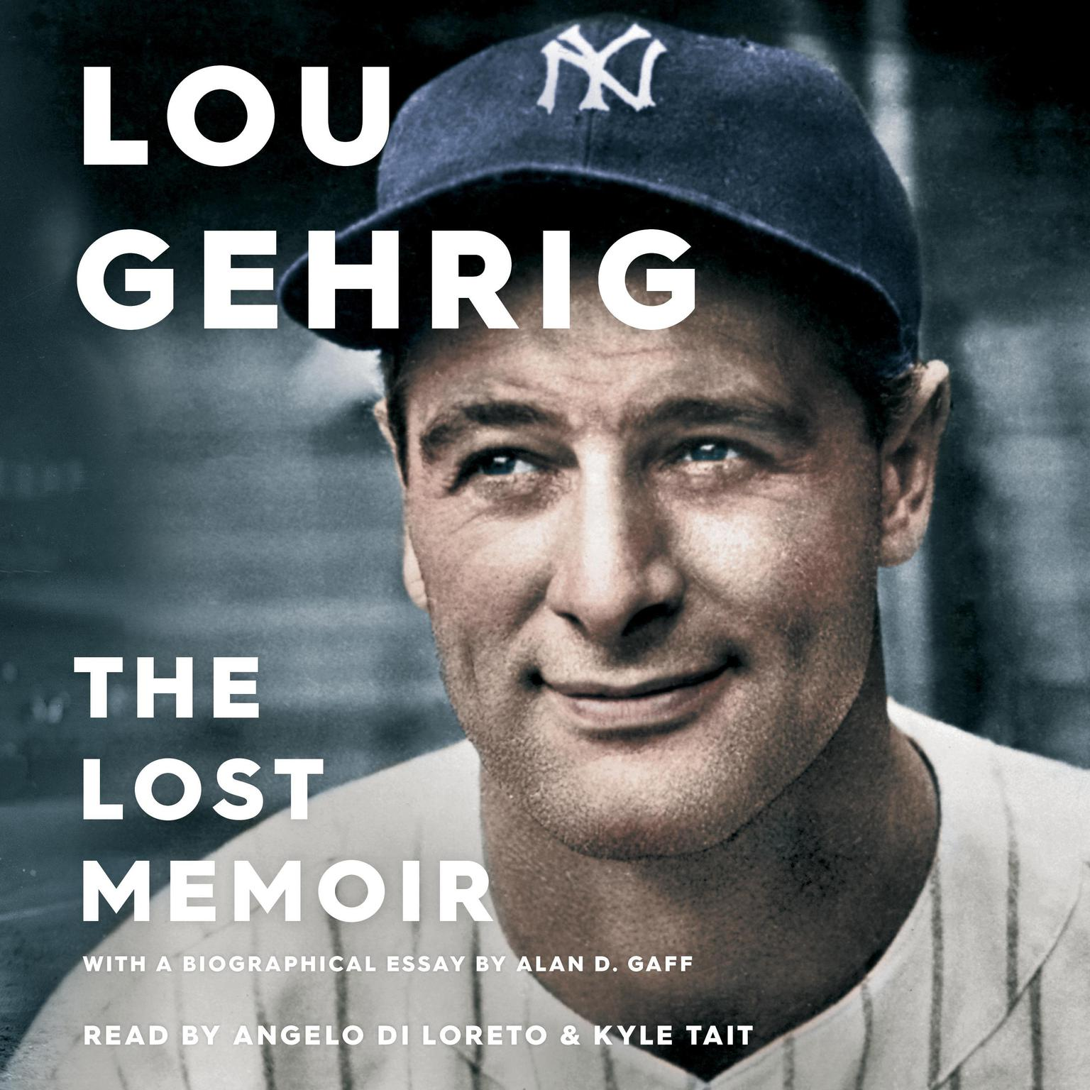 Printable Lou Gehrig: The Lost Memoir Audiobook Cover Art