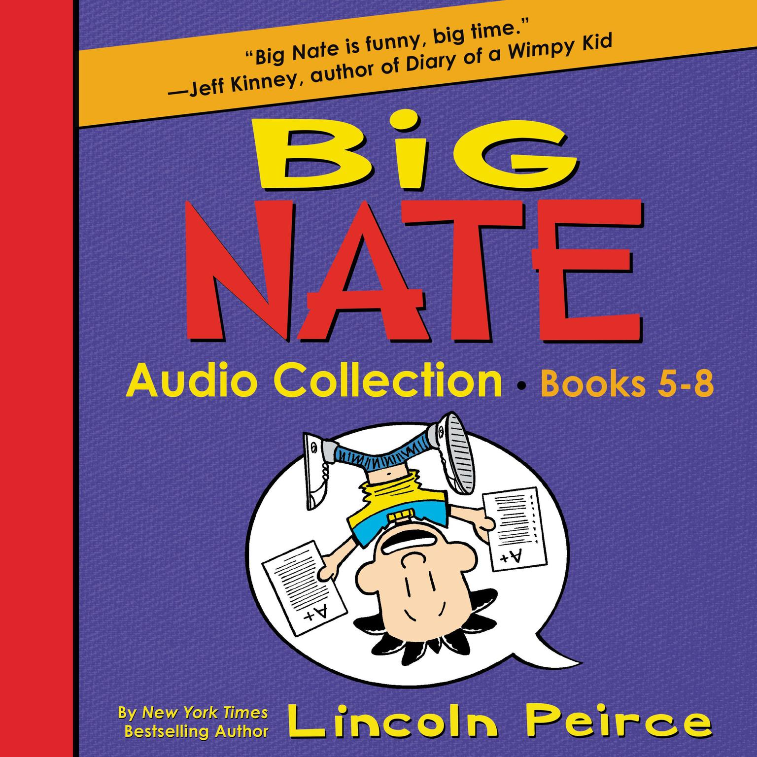 Printable Big Nate Audio Collection: Books 5-8 Audiobook Cover Art