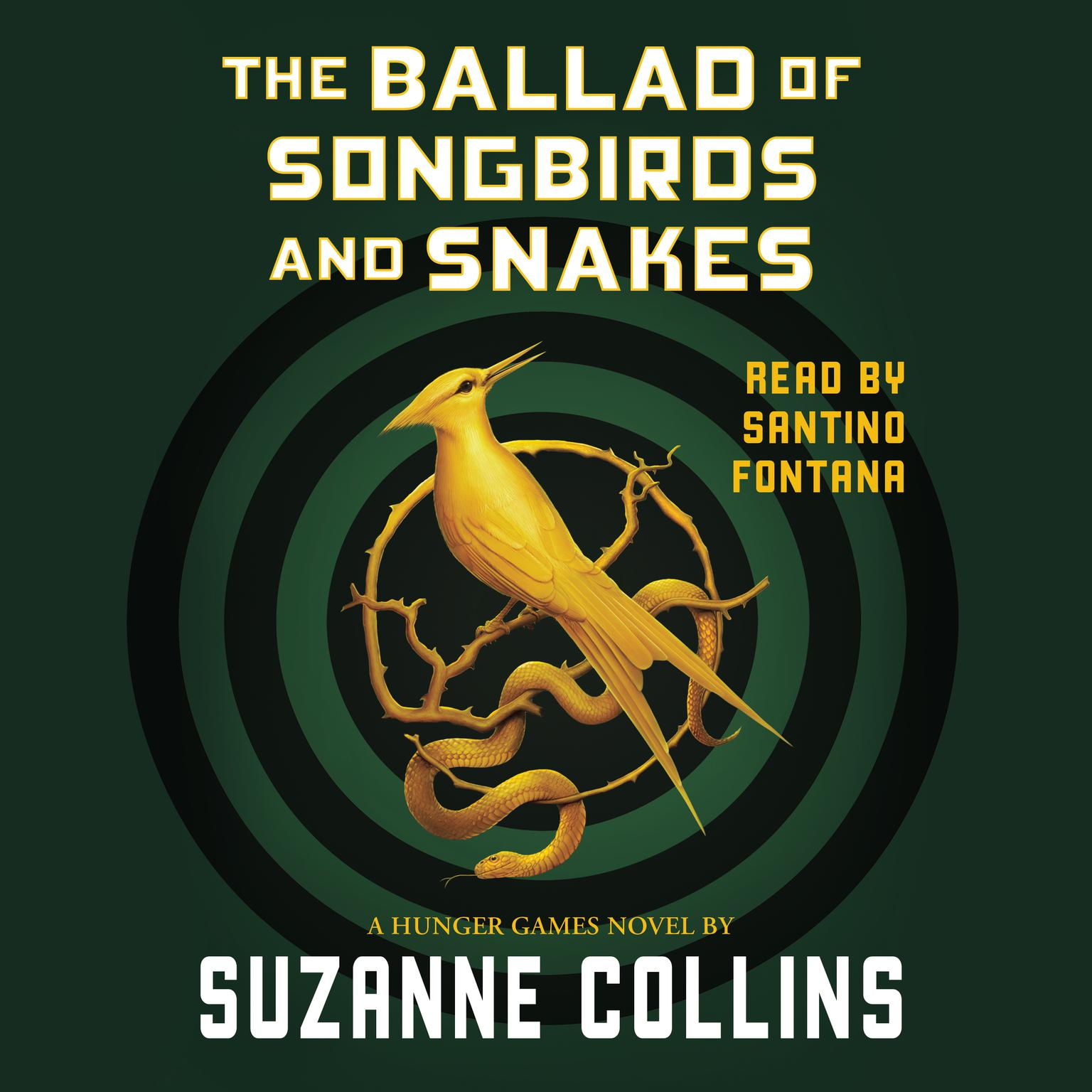 Printable The Ballad of Songbirds and Snakes Audiobook Cover Art