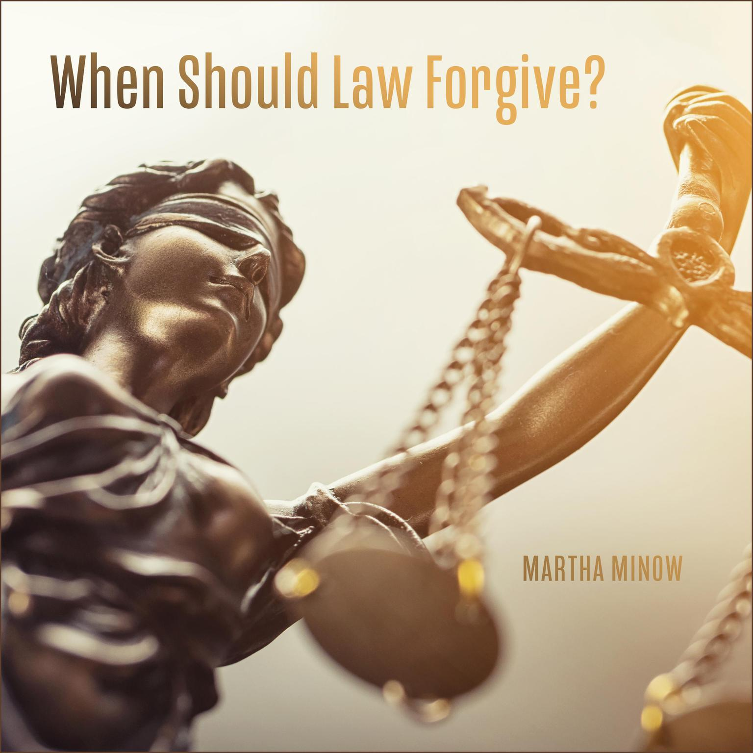 Printable When Should Law Forgive? Audiobook Cover Art