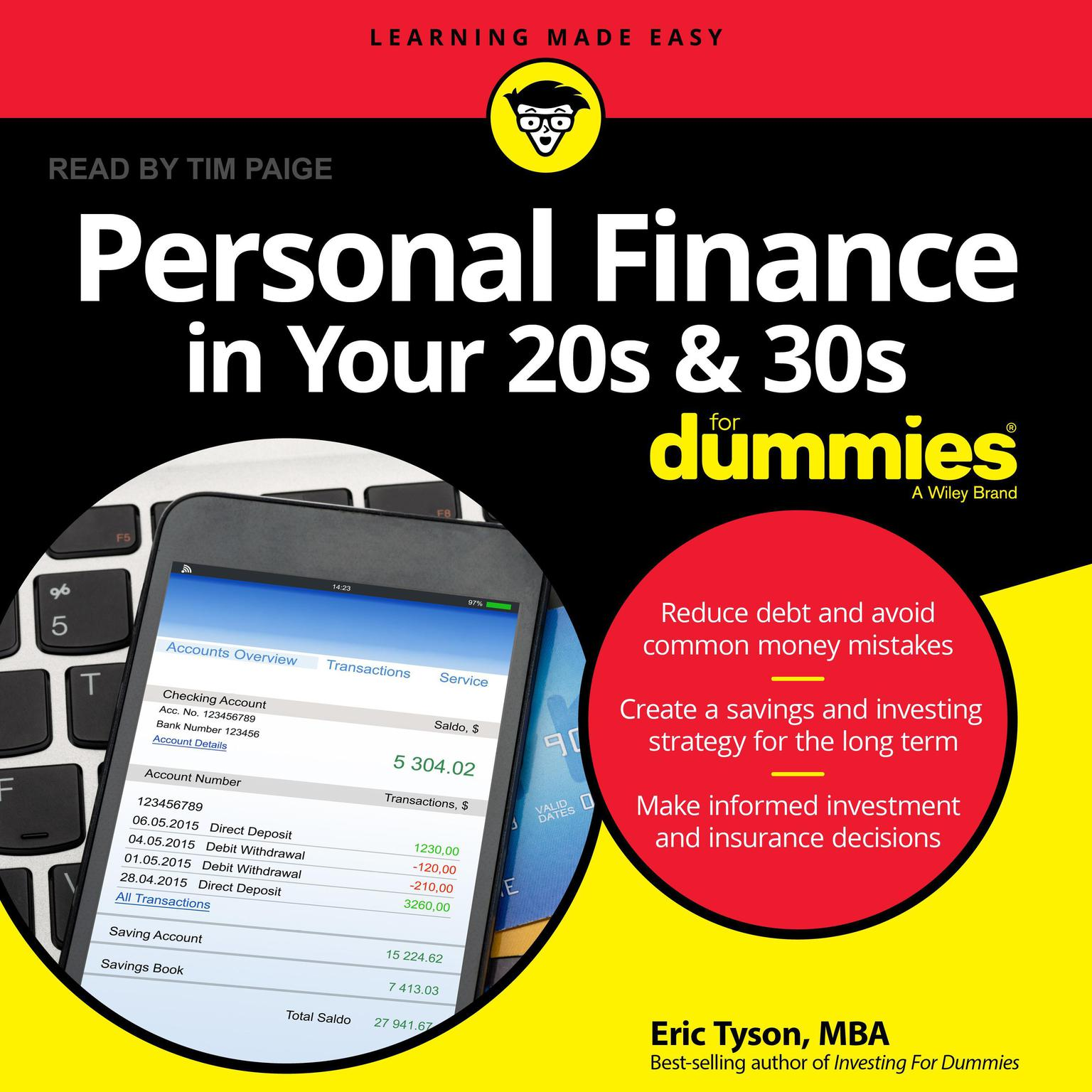 Printable Personal Finance in Your 20s and 30s For Dummies Audiobook Cover Art