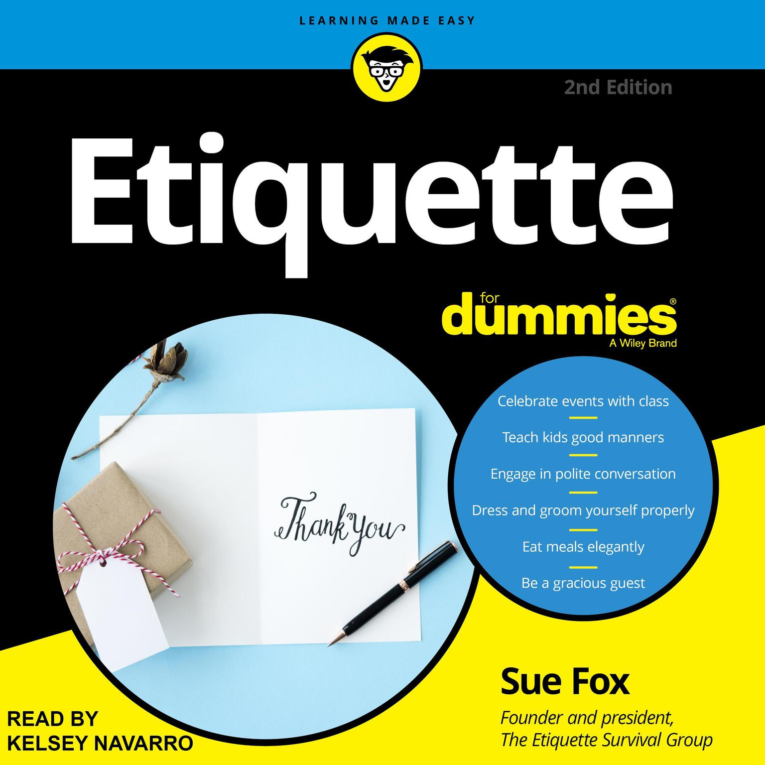 Printable Etiquette For Dummies: 2nd Edition Audiobook Cover Art