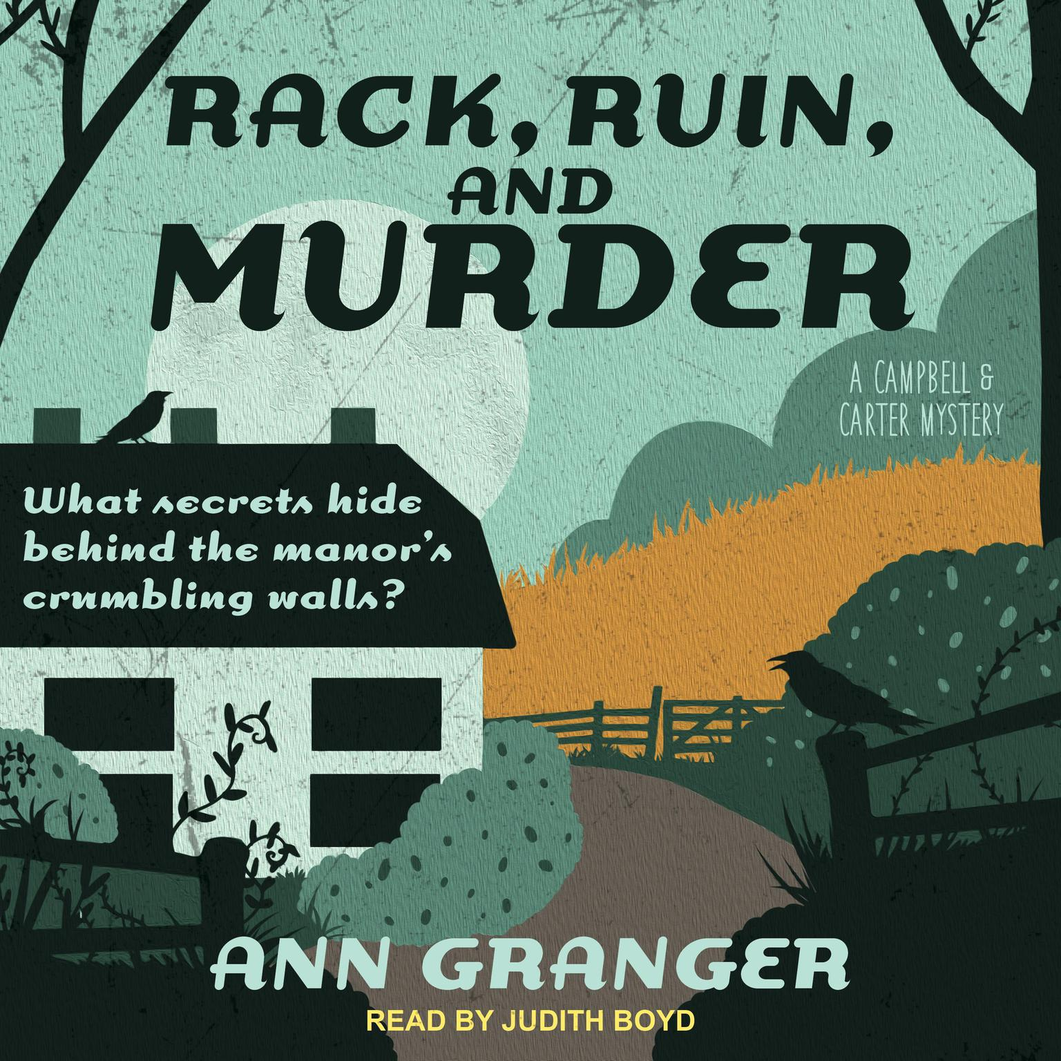 Printable Rack, Ruin and Murder Audiobook Cover Art
