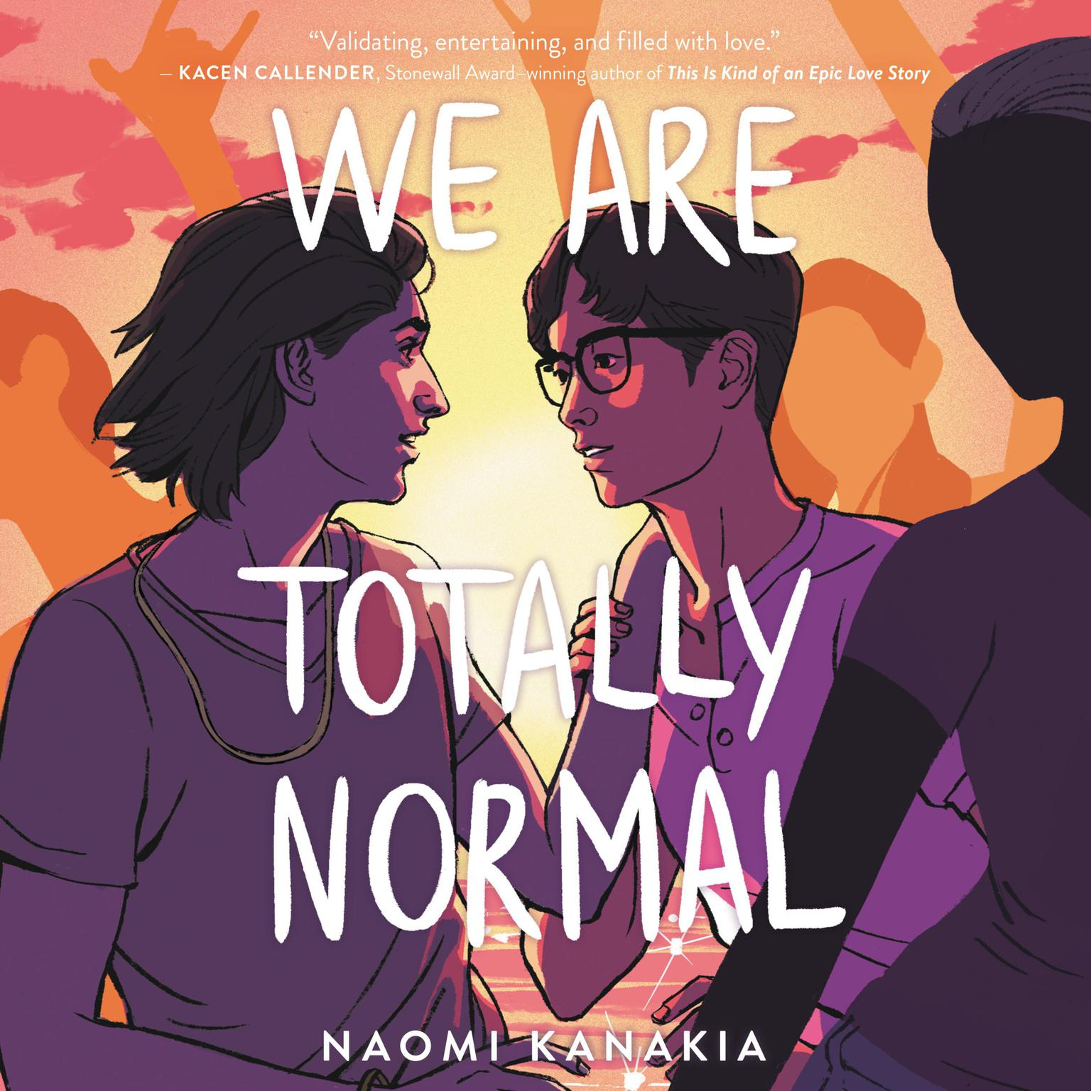 Printable We Are Totally Normal Audiobook Cover Art
