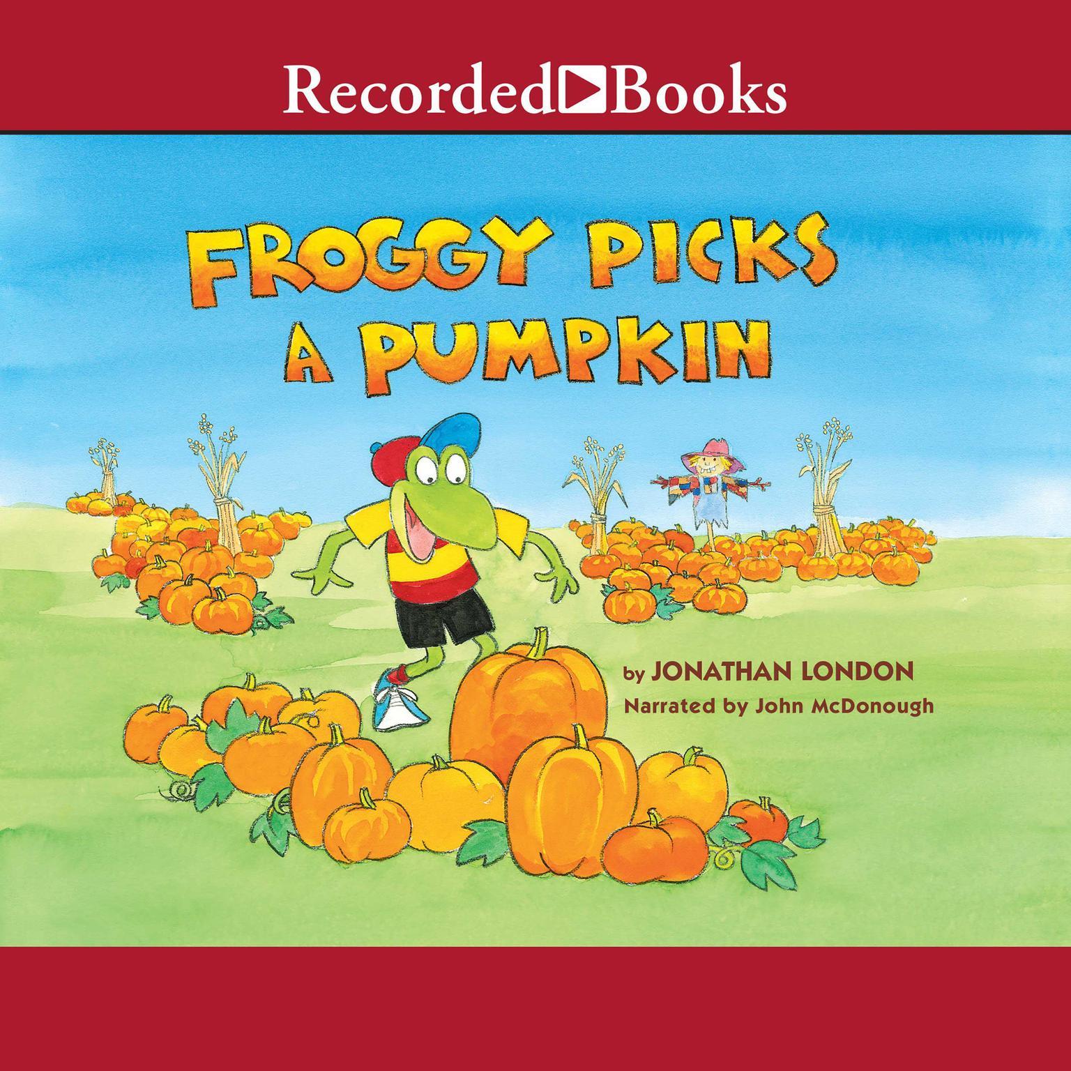 Printable Froggy Picks a Pumpkin Audiobook Cover Art