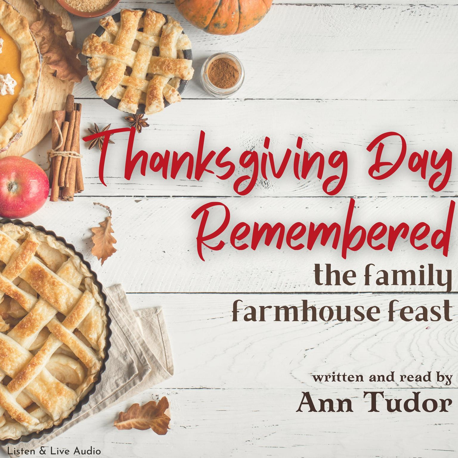 Printable Thanksgiving Day Remembered Audiobook Cover Art