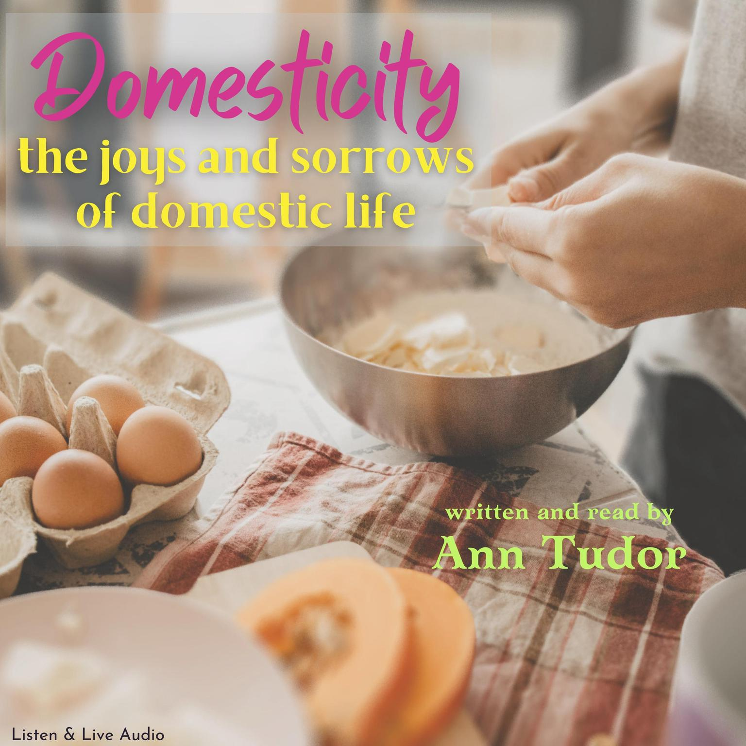 Printable Domesticity Audiobook Cover Art