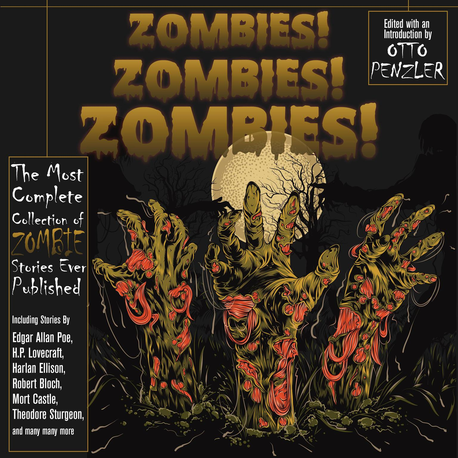 Printable Zombies! Zombies! Zombies! Audiobook Cover Art