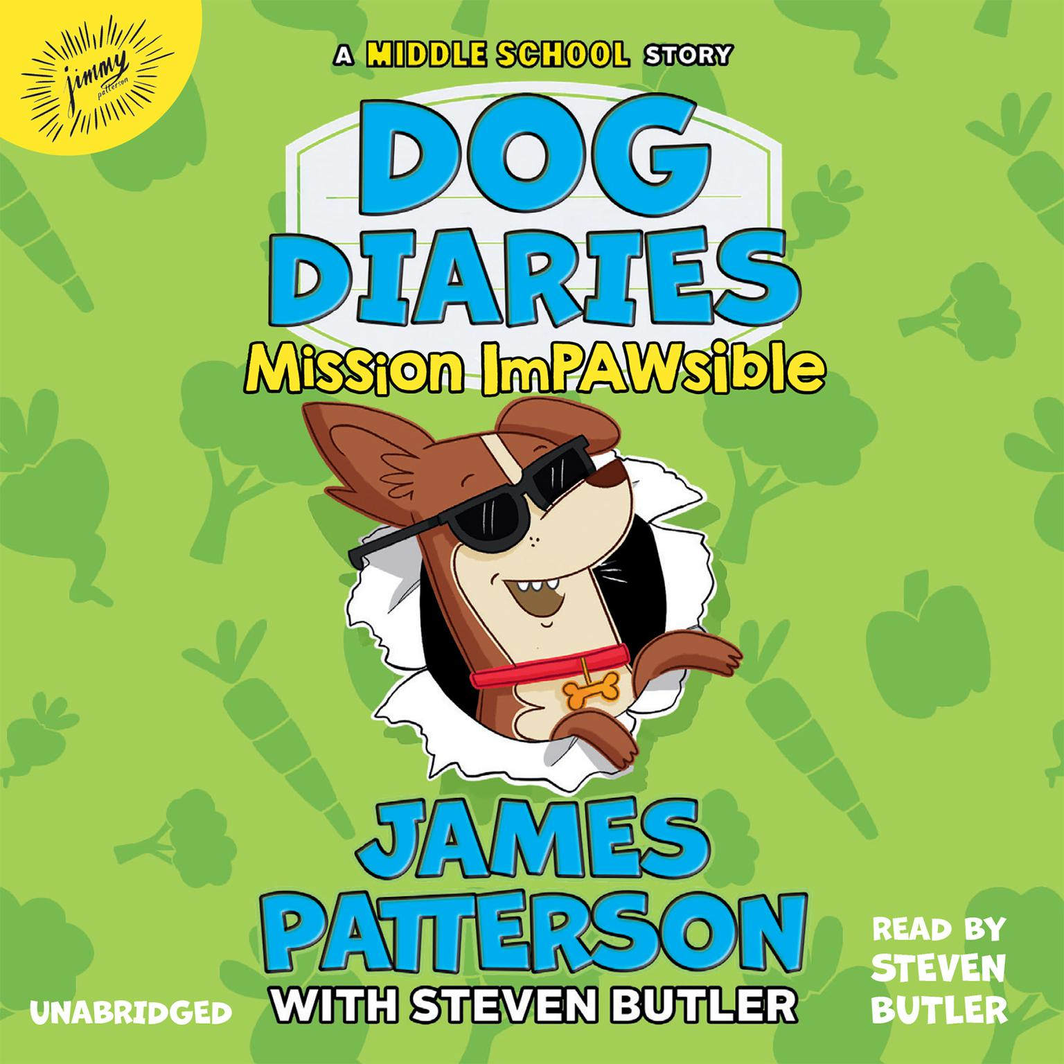 Printable Dog Diaries: Mission Impawsible: A Middle School Story Audiobook Cover Art