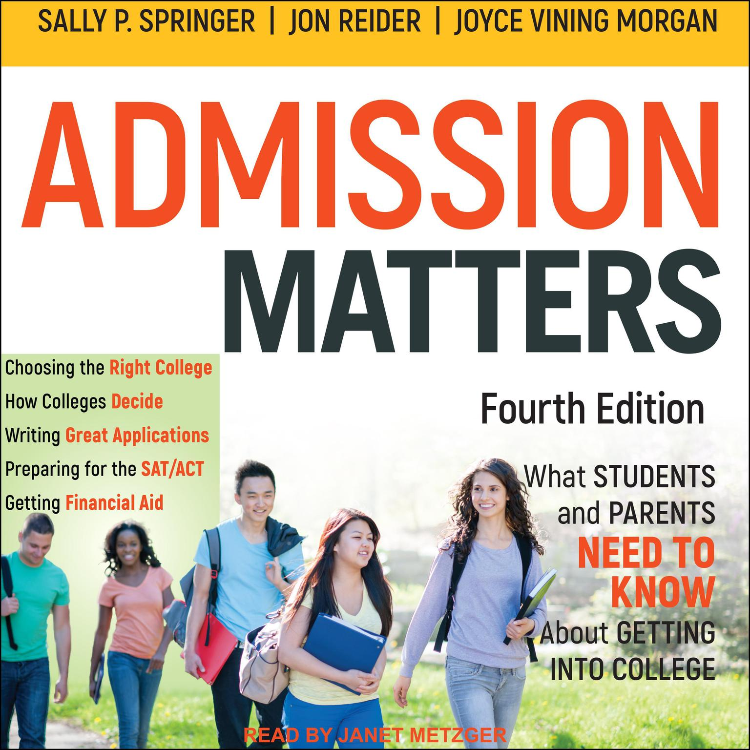 Printable Admission Matters: What Students and Parents Need to Know About Getting into College Audiobook Cover Art