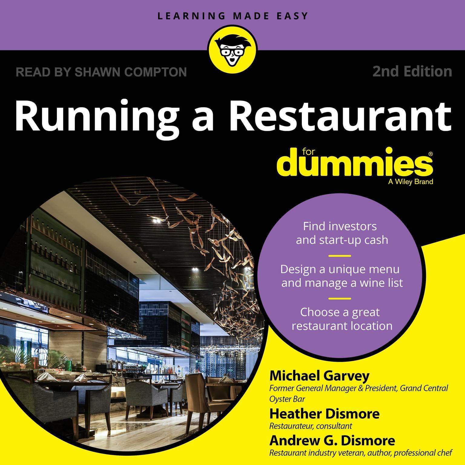 Printable Running a Restaurant For Dummies Audiobook Cover Art