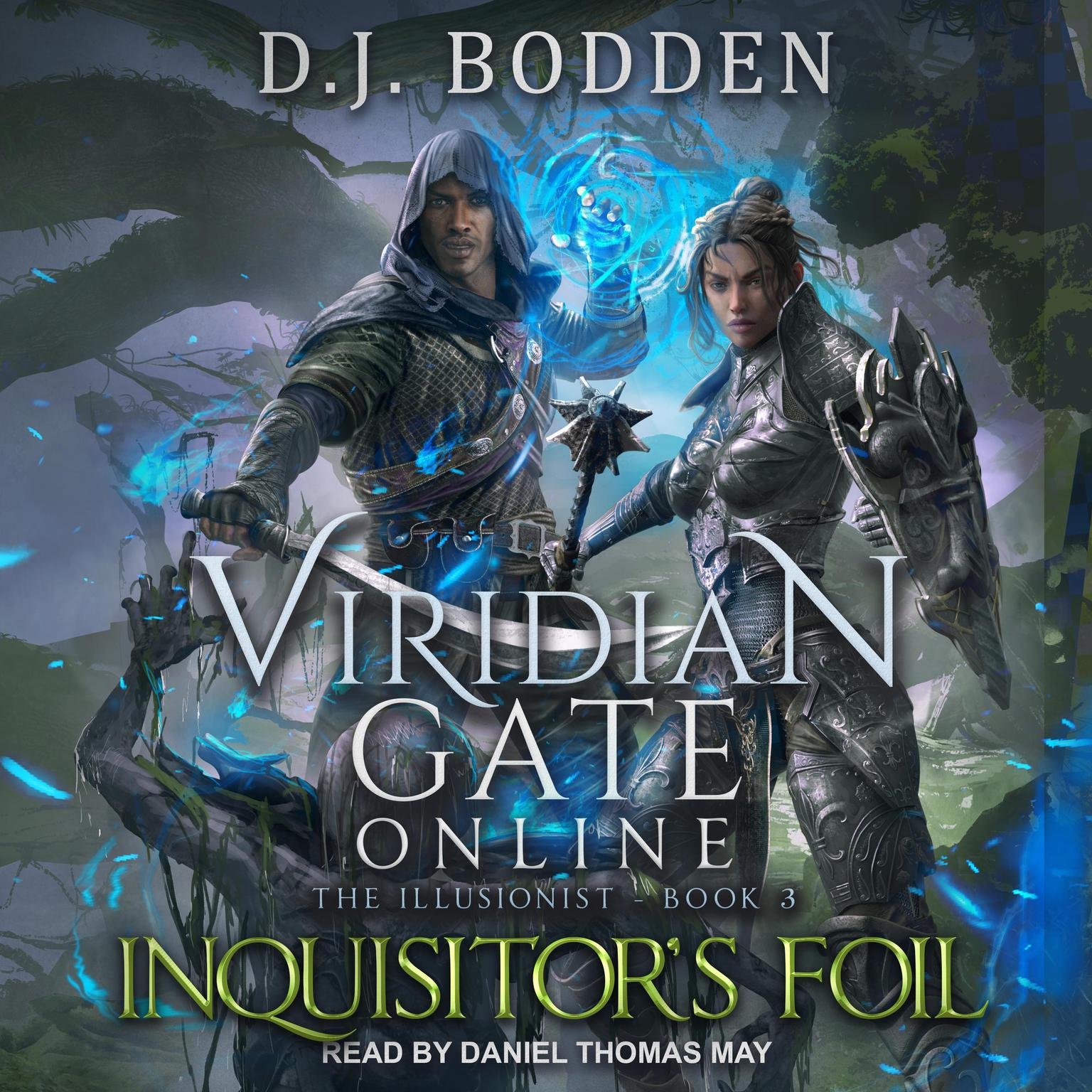 Printable Viridian Gate Online: Inquisitor's Foil Audiobook Cover Art